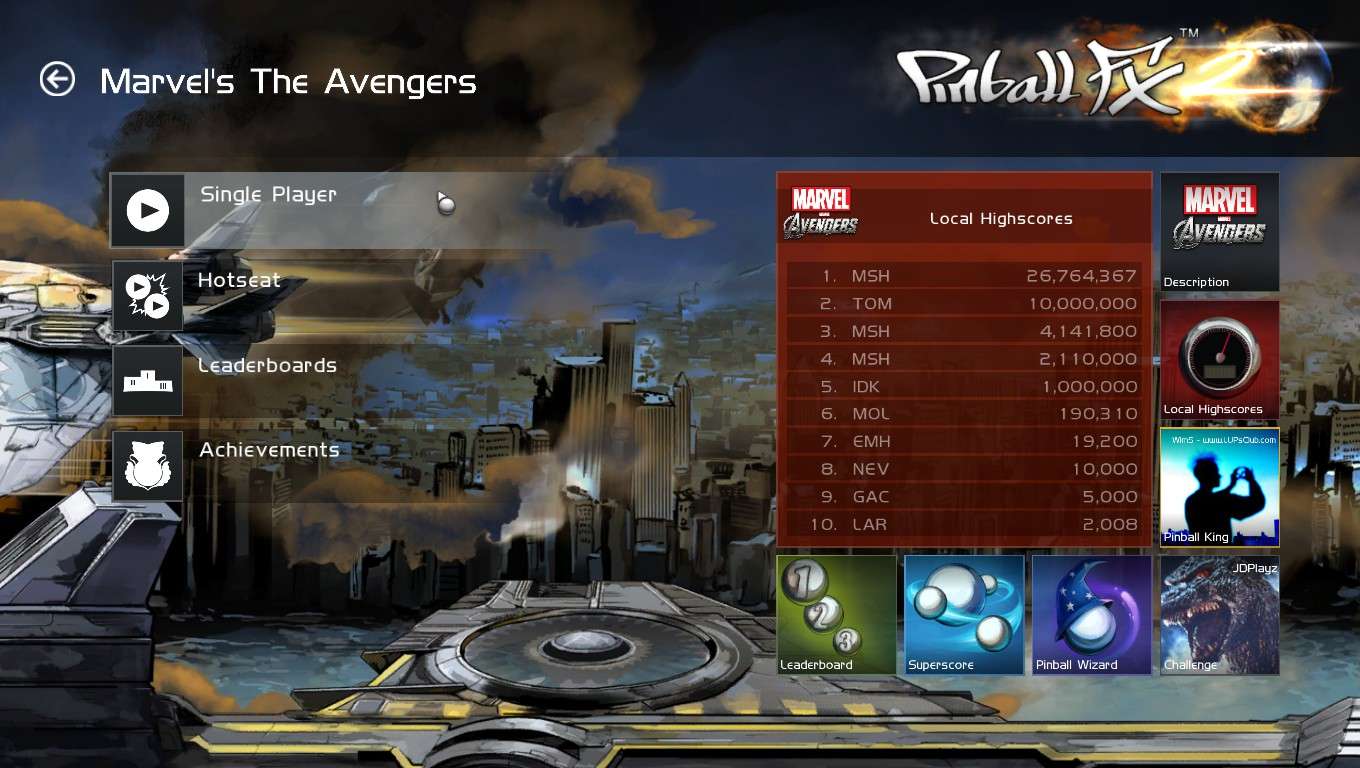 Mark: Pinball FX 2: Marvel: Avengers Chronicles (PC) 26,764,367 points on 2018-05-23 03:02:02