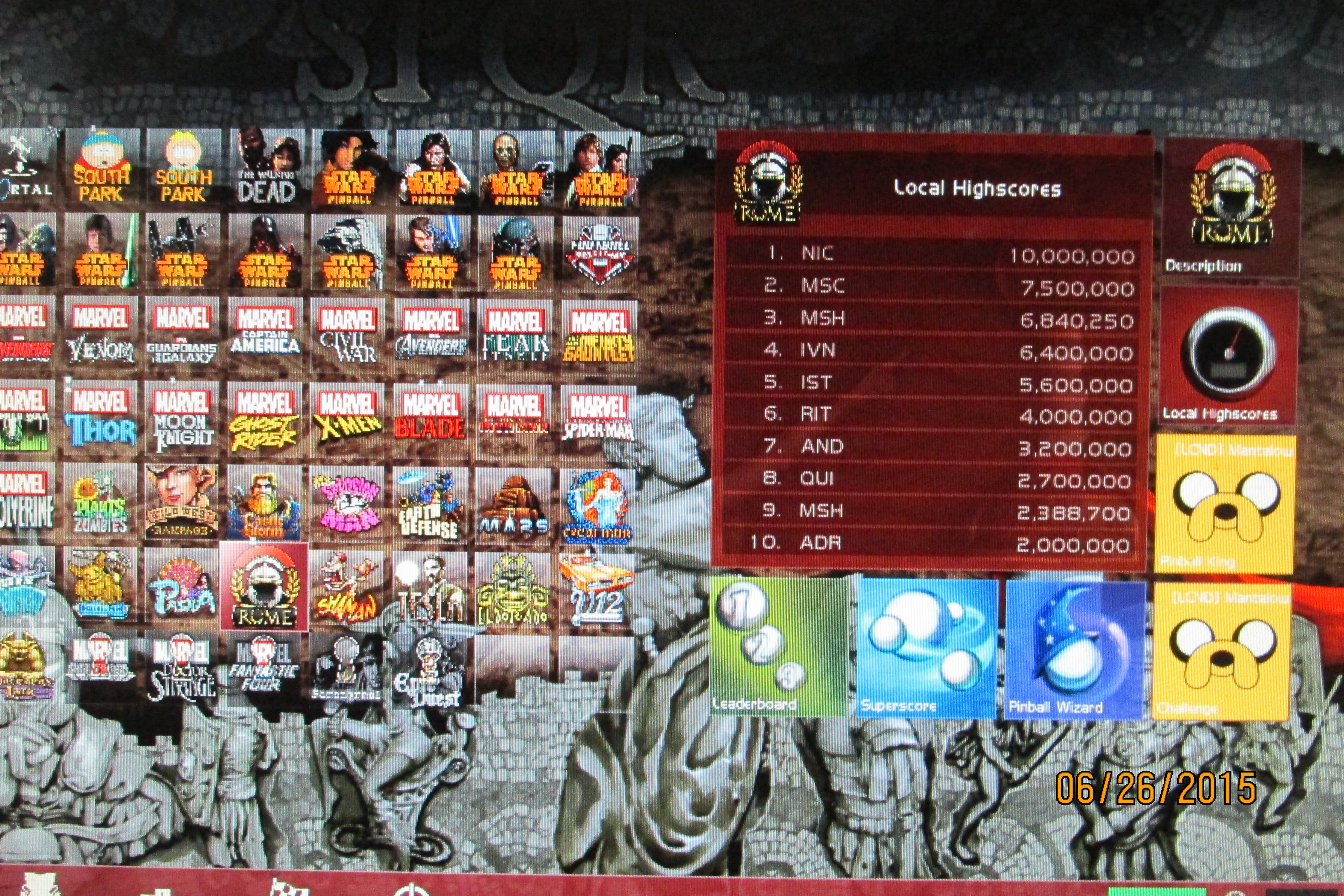 Mark: Pinball FX 2: Rome (PC) 6,840,250 points on 2015-07-01 01:24:30