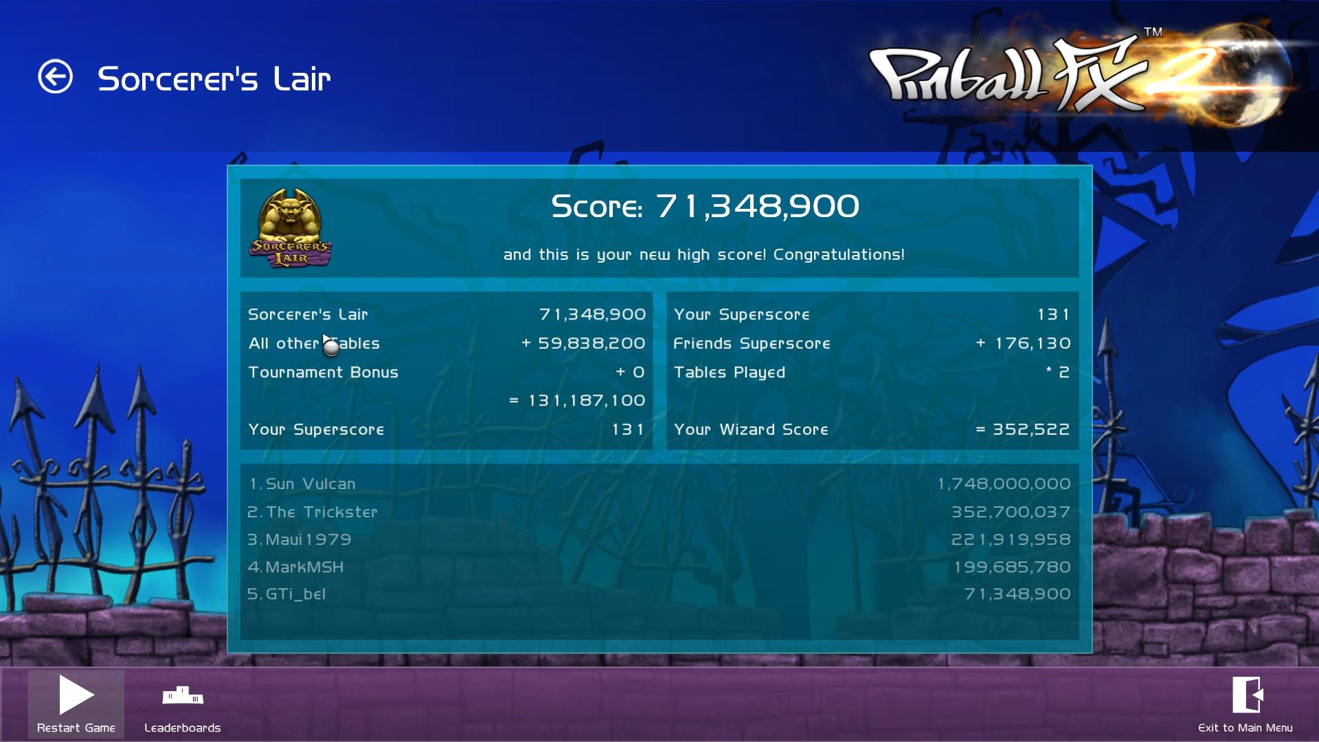 GTibel: Pinball FX 2: Sorcerer