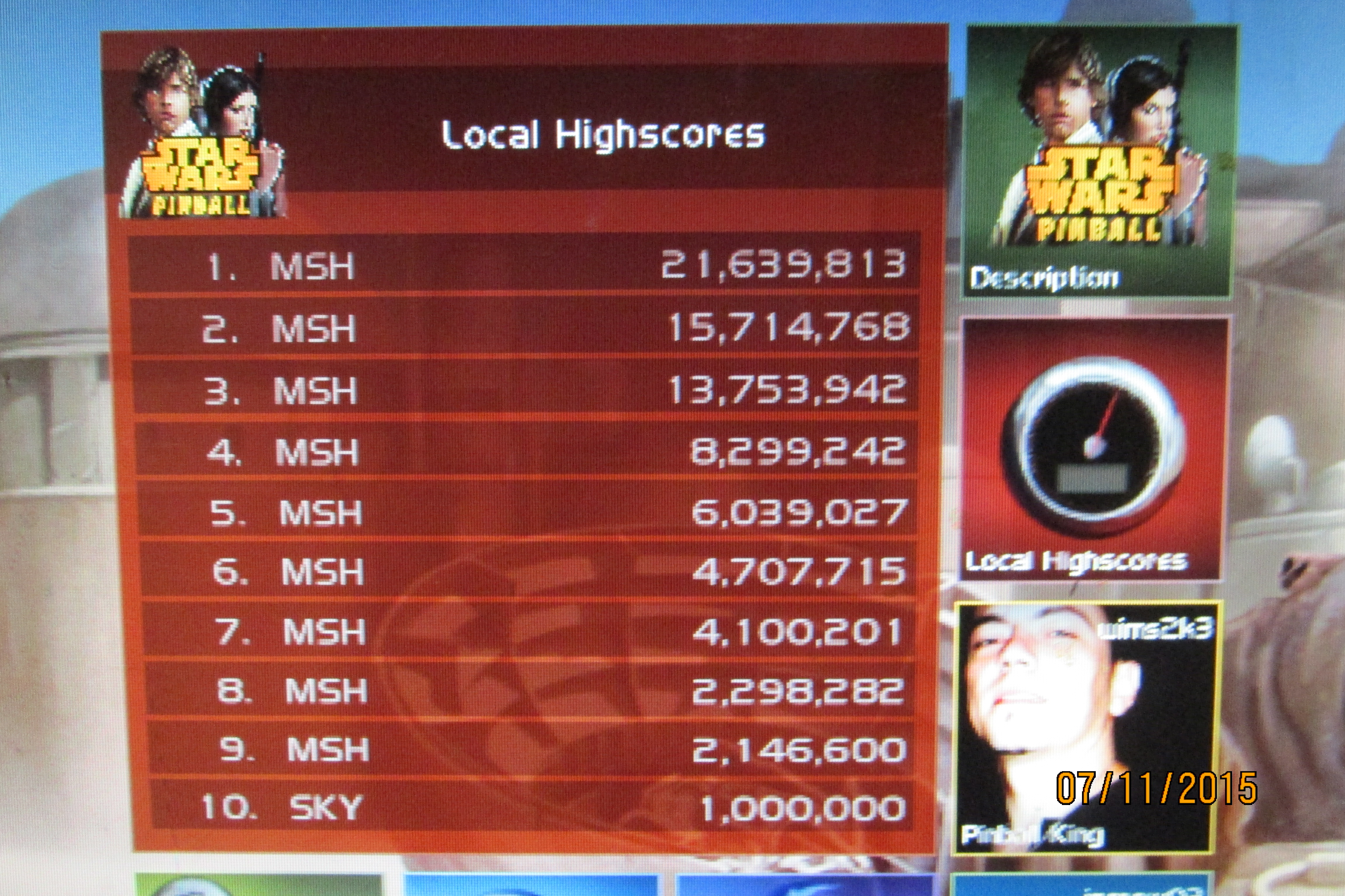 Mark: Pinball FX 2: Star Wars Pinball: Episode IV: A New Hope (PC) 15,714,768 points on 2015-07-14 00:32:52