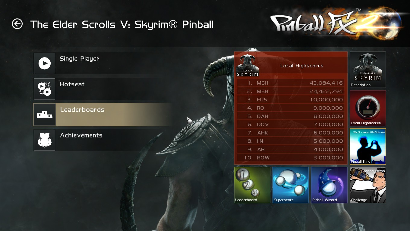 Mark: Pinball FX 2: The Elder Scrolls V: Skyrim Pinball (PC) 43,084,416 points on 2018-05-05 01:03:07