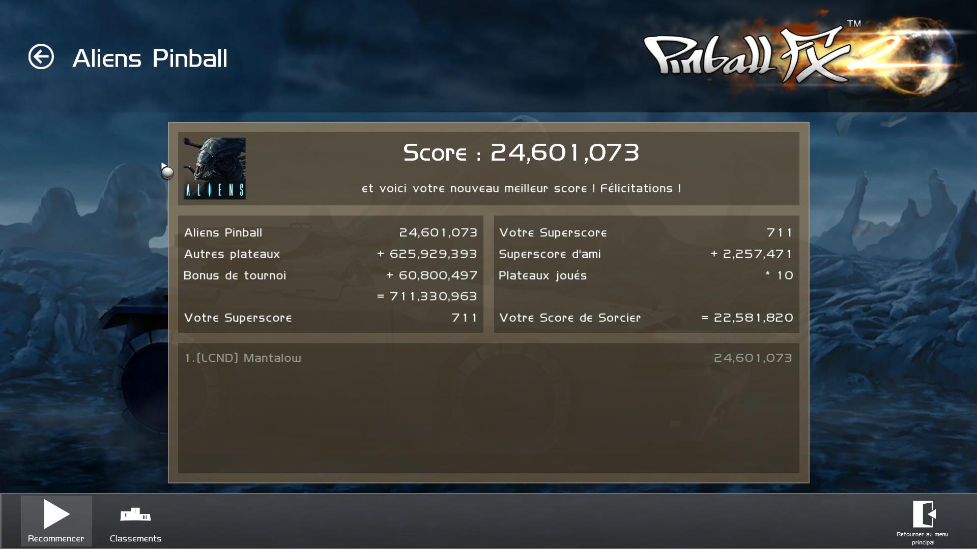 Mantalow: Pinball FX2: Aliens vs. Pinball (PC) 24,601,073 points on 2016-04-28 12:01:15