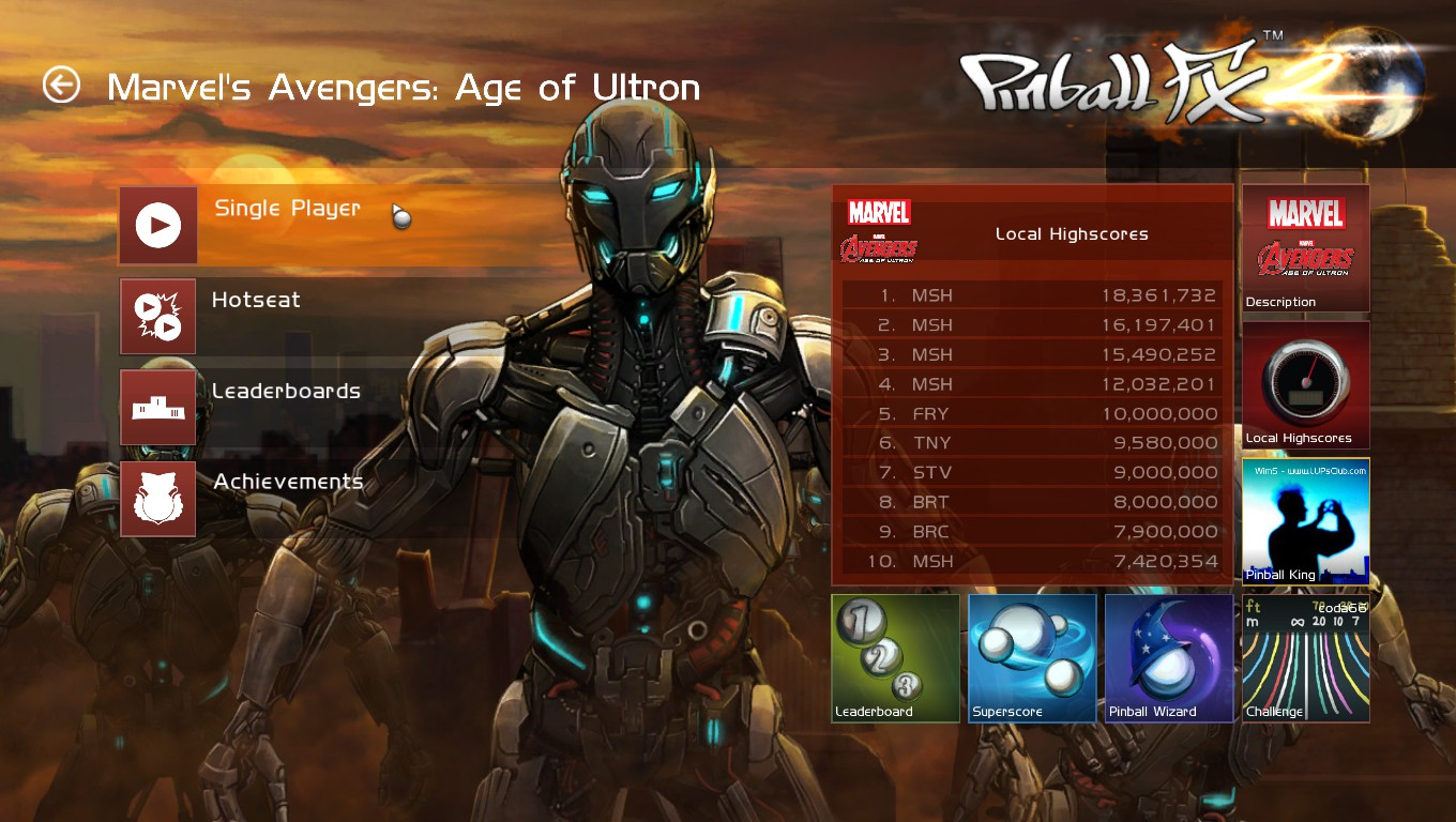 Mark: Pinball FX2: Marvel's Avengers: Age of Ultron (PC) 18,361,732 points on 2018-05-23 03:04:45