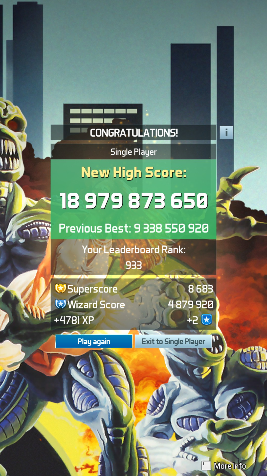 Pinball FX3: Attack From Mars [Standard] 18,979,873,650 points