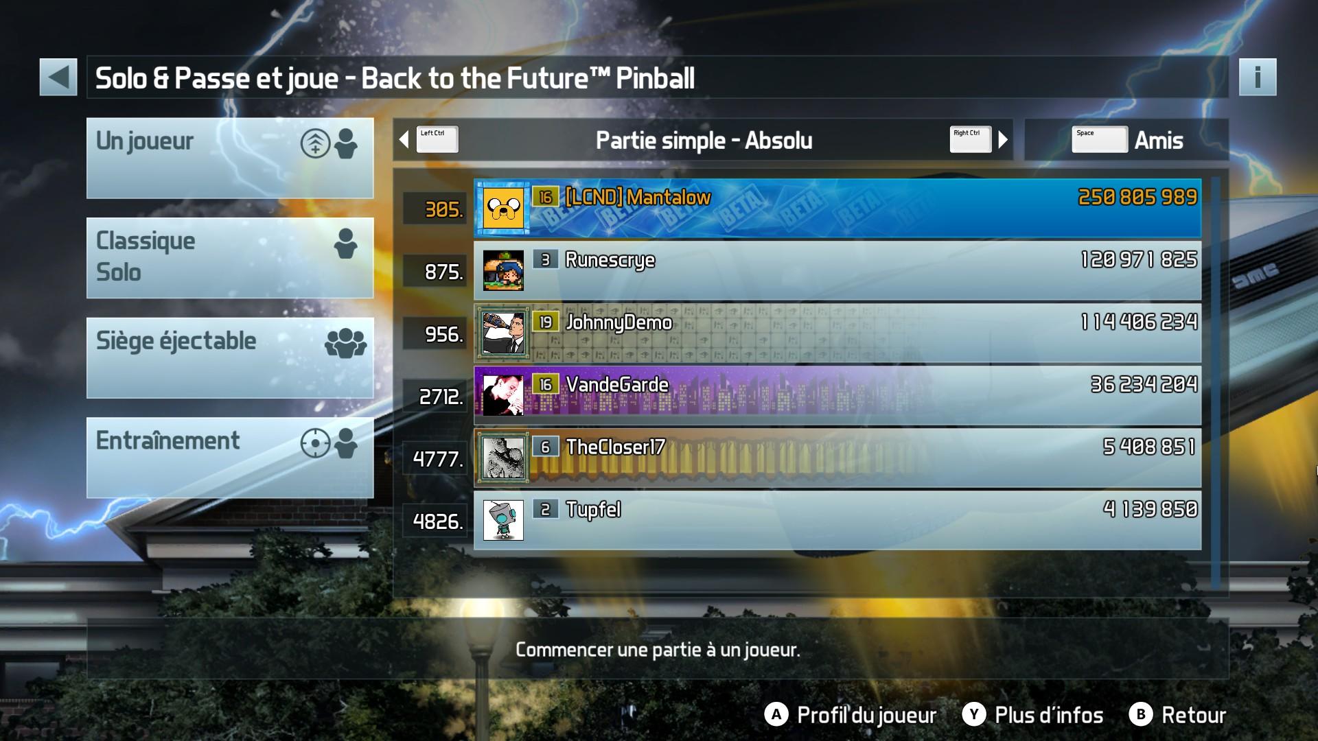 Mantalow: Pinball FX3: Back to the Future Pinball (PC) 250,805,989 points on 2017-10-02 11:35:01