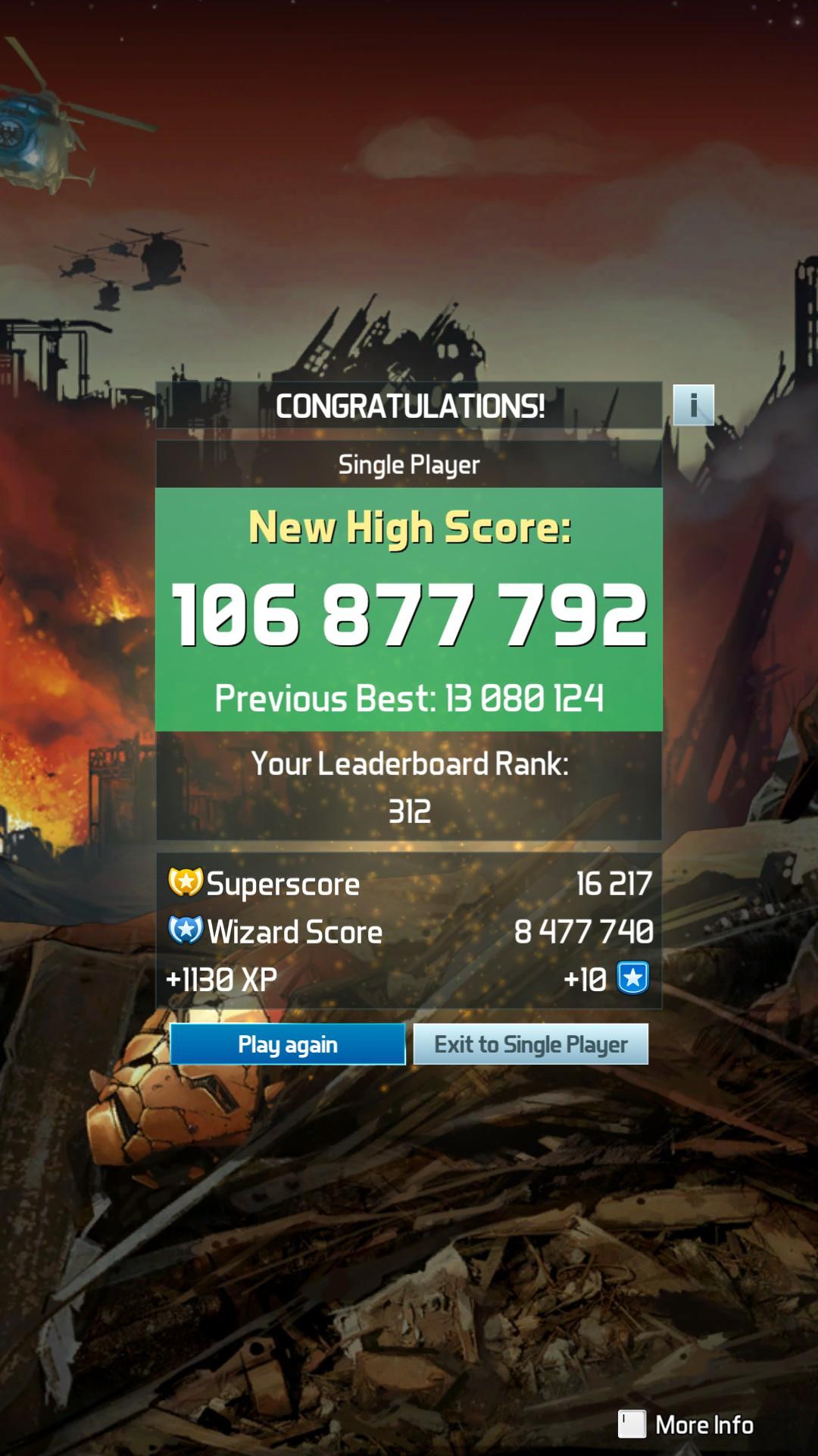 Pinball FX3: Civil War 106,877,792 points