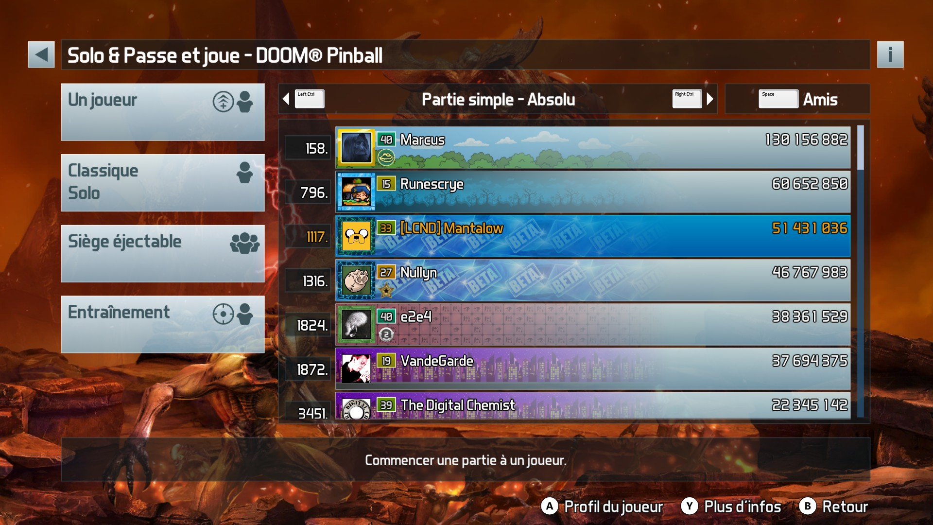 Mantalow: Pinball FX3: Doom Pinball (PC) 51,431,036 points on 2018-01-16 13:01:50
