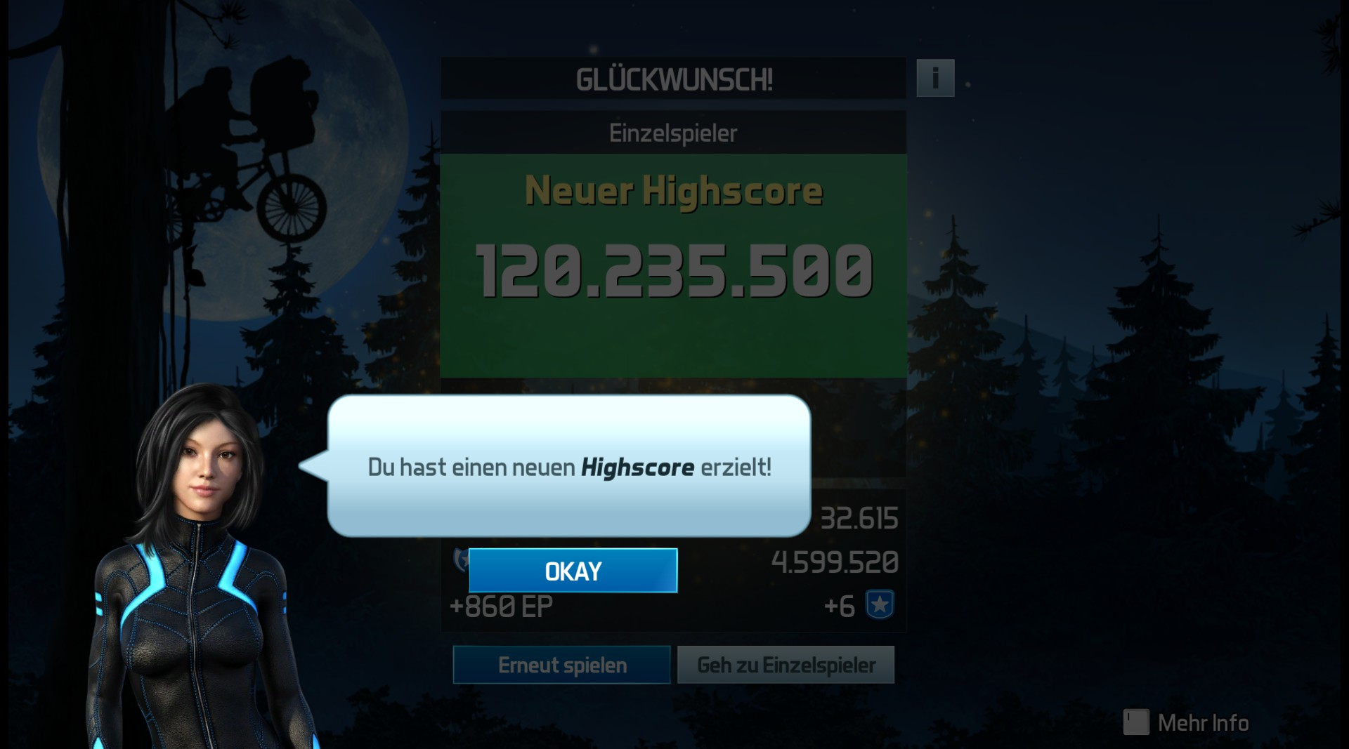 Pinball FX3: E.T. Pinball 120,235,500 points