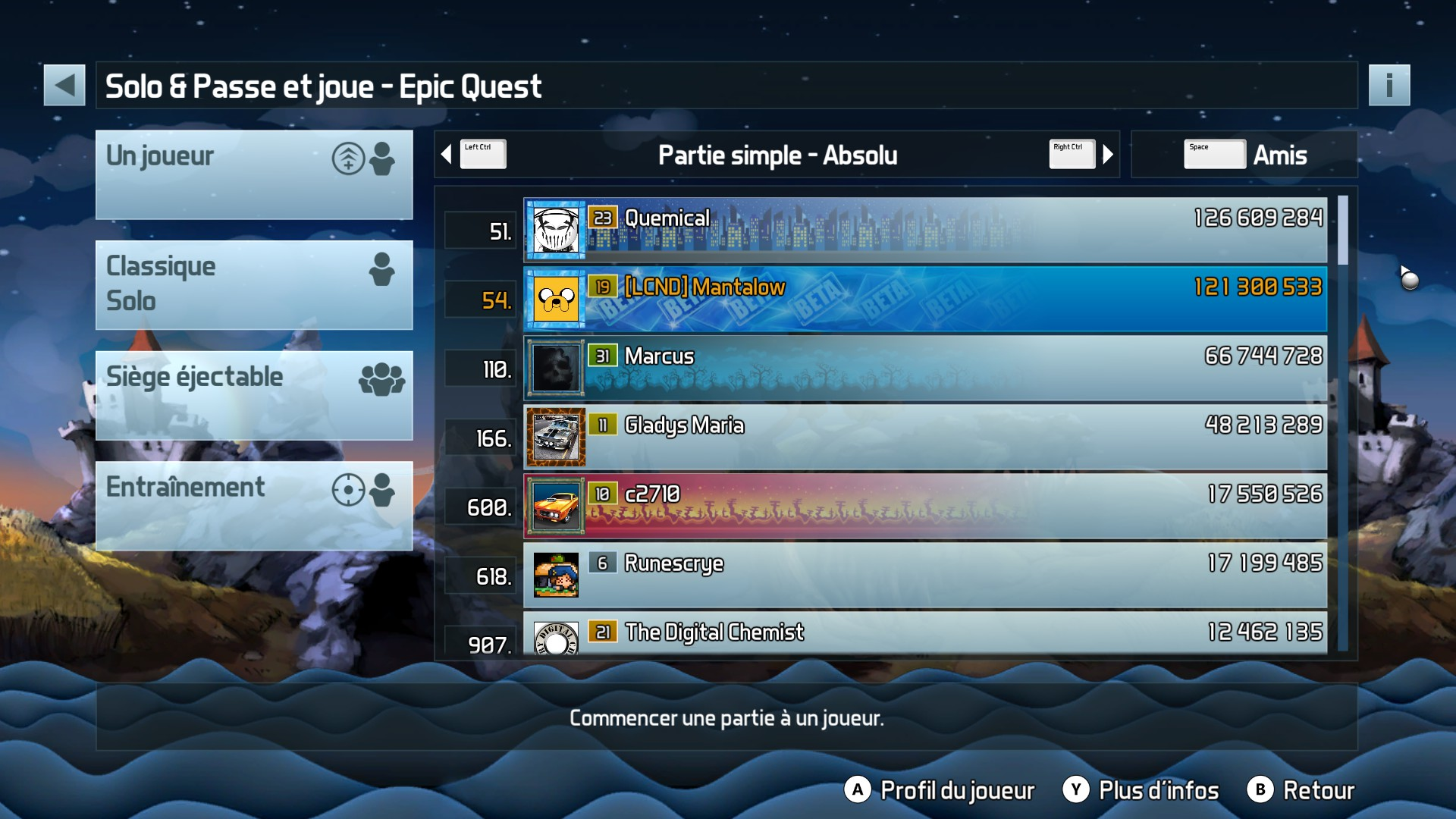 Mantalow: Pinball FX3: Epic Quest (PC) 121,300,533 points on 2017-10-03 03:58:22