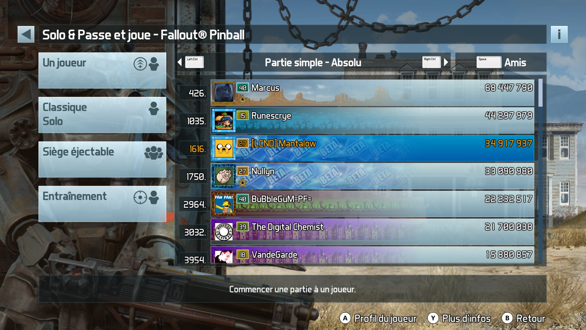 Mantalow: Pinball FX3: Fallout Pinball (PC) 34,917,937 points on 2017-12-19 10:47:25