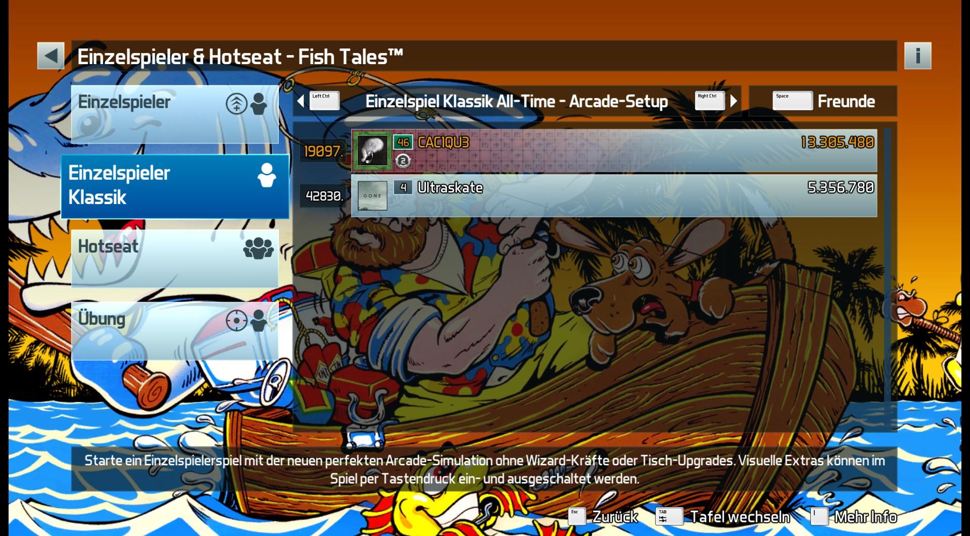 Pinball FX3: Fish Tales [Arcade] 13,305,480 points
