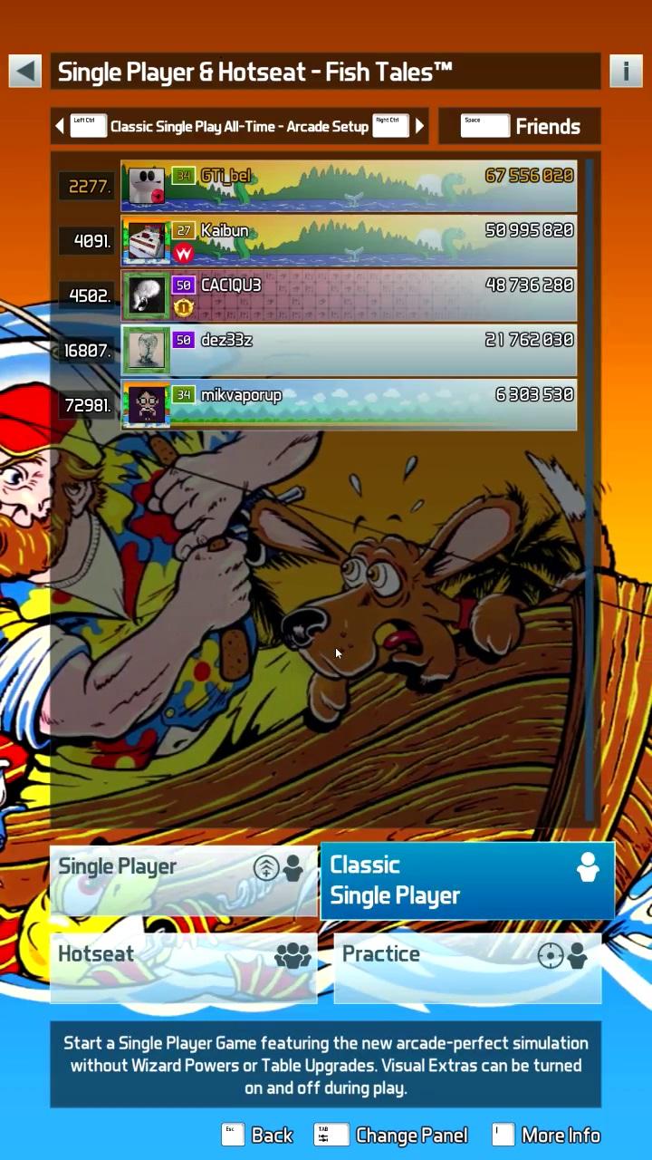 GTibel: Pinball FX3: Fish Tales [Arcade] (PC) 67,556,020 points on 2020-01-12 05:37:46
