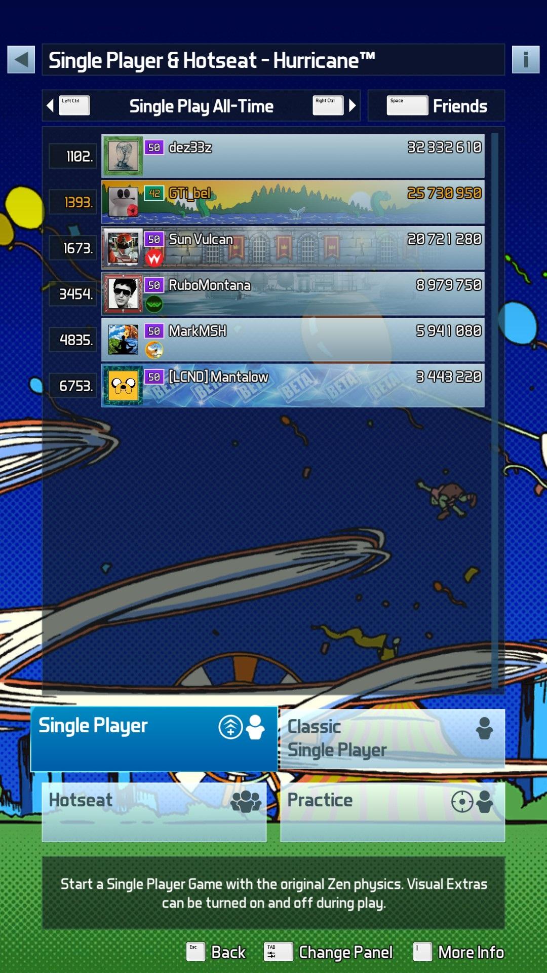 GTibel: Pinball FX3: Hurricane [Standard] (PC) 25,730,950 points on 2020-01-16 03:57:47