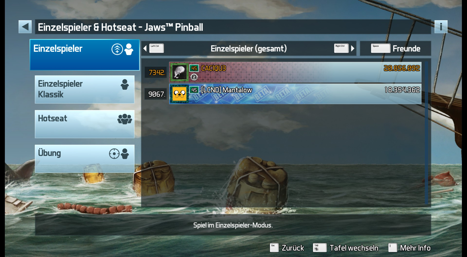 Pinball FX3: Jaws Pinball 20,856,092 points