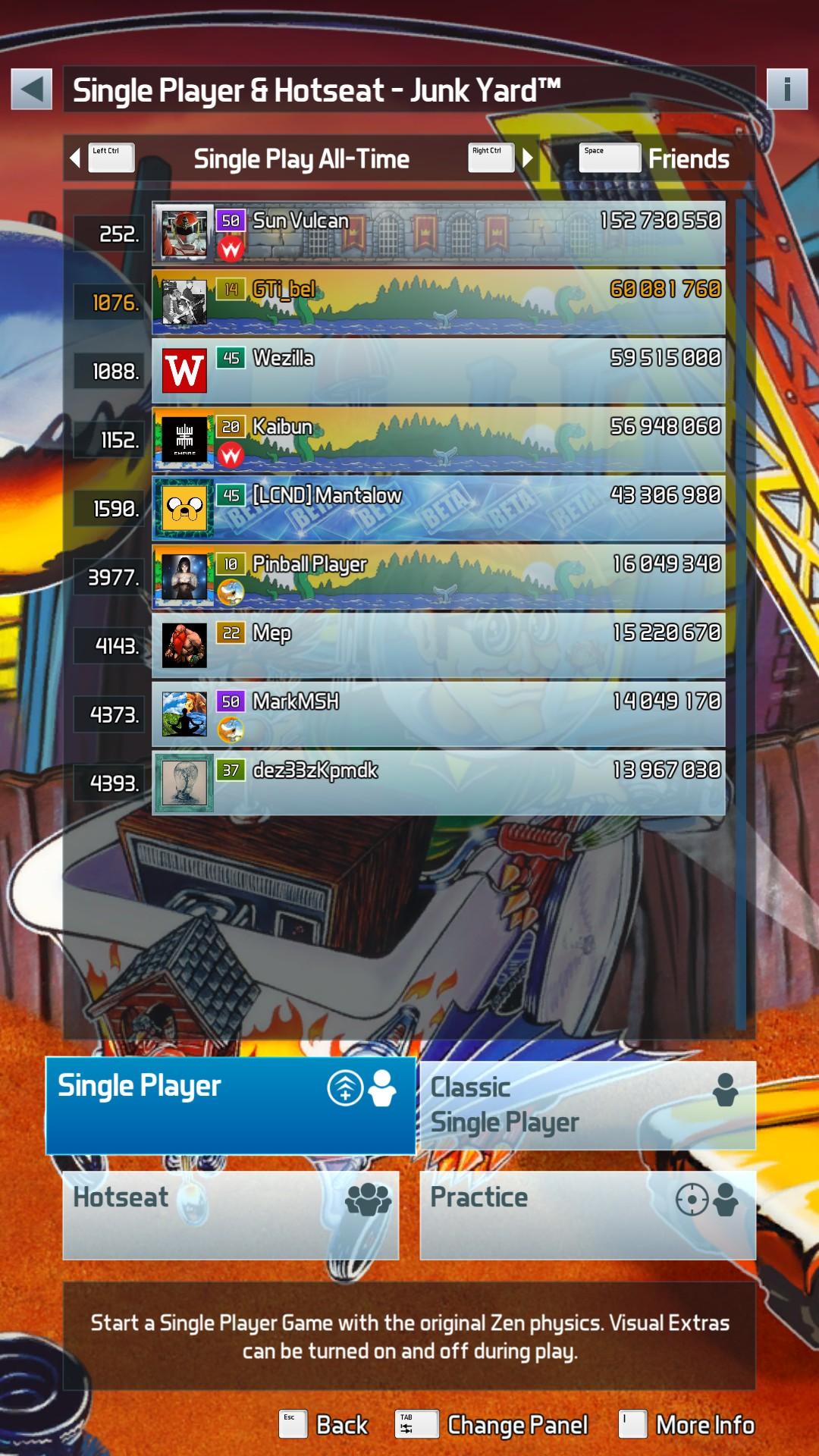GTibel: Pinball FX3: JunkYard [Arcade] (PC) 60,081,760 points on 2019-01-22 12:43:47