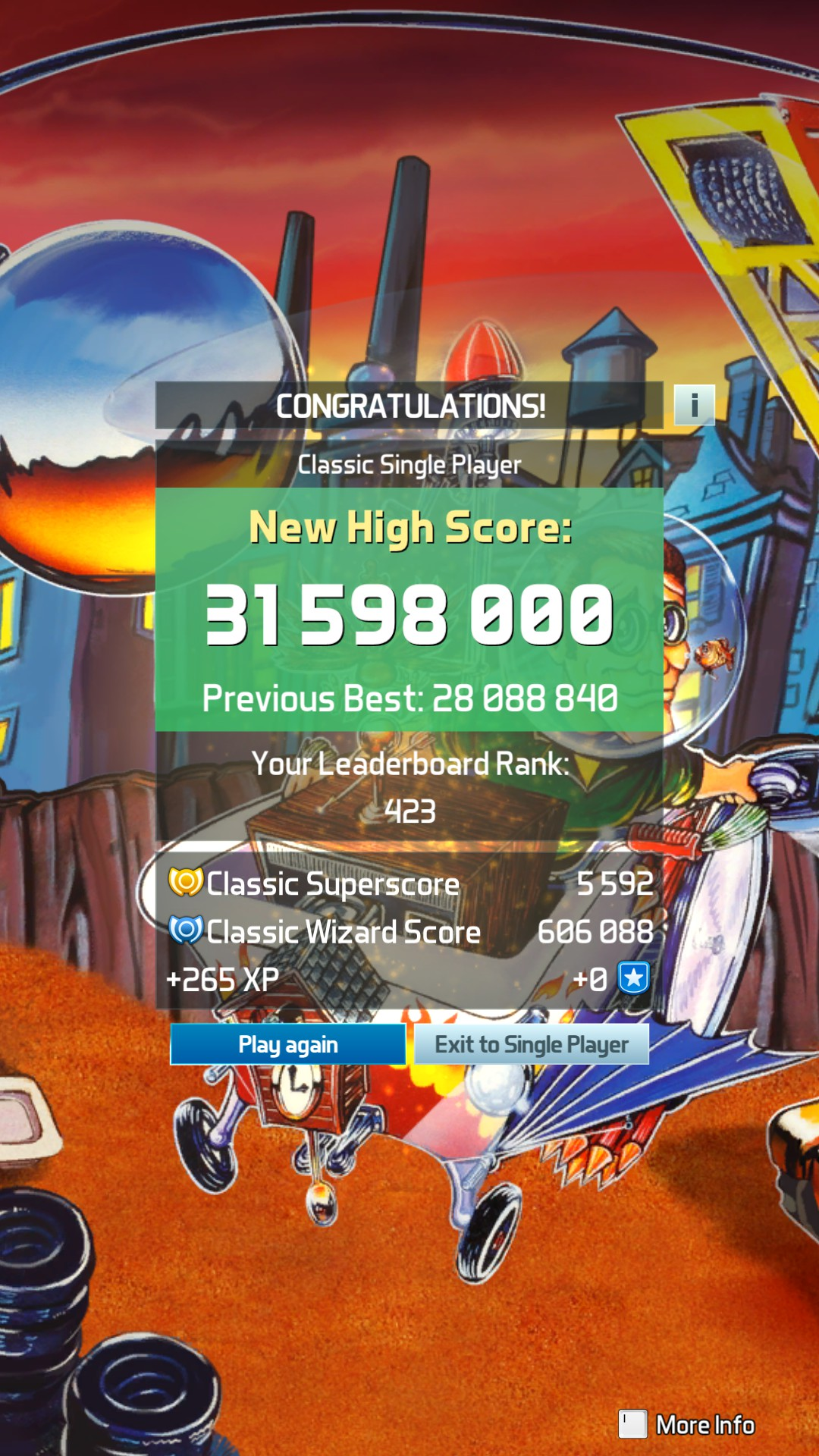 GTibel: Pinball FX3: JunkYard [Classic] (PC) 31,598,000 points on 2020-01-16 09:56:39