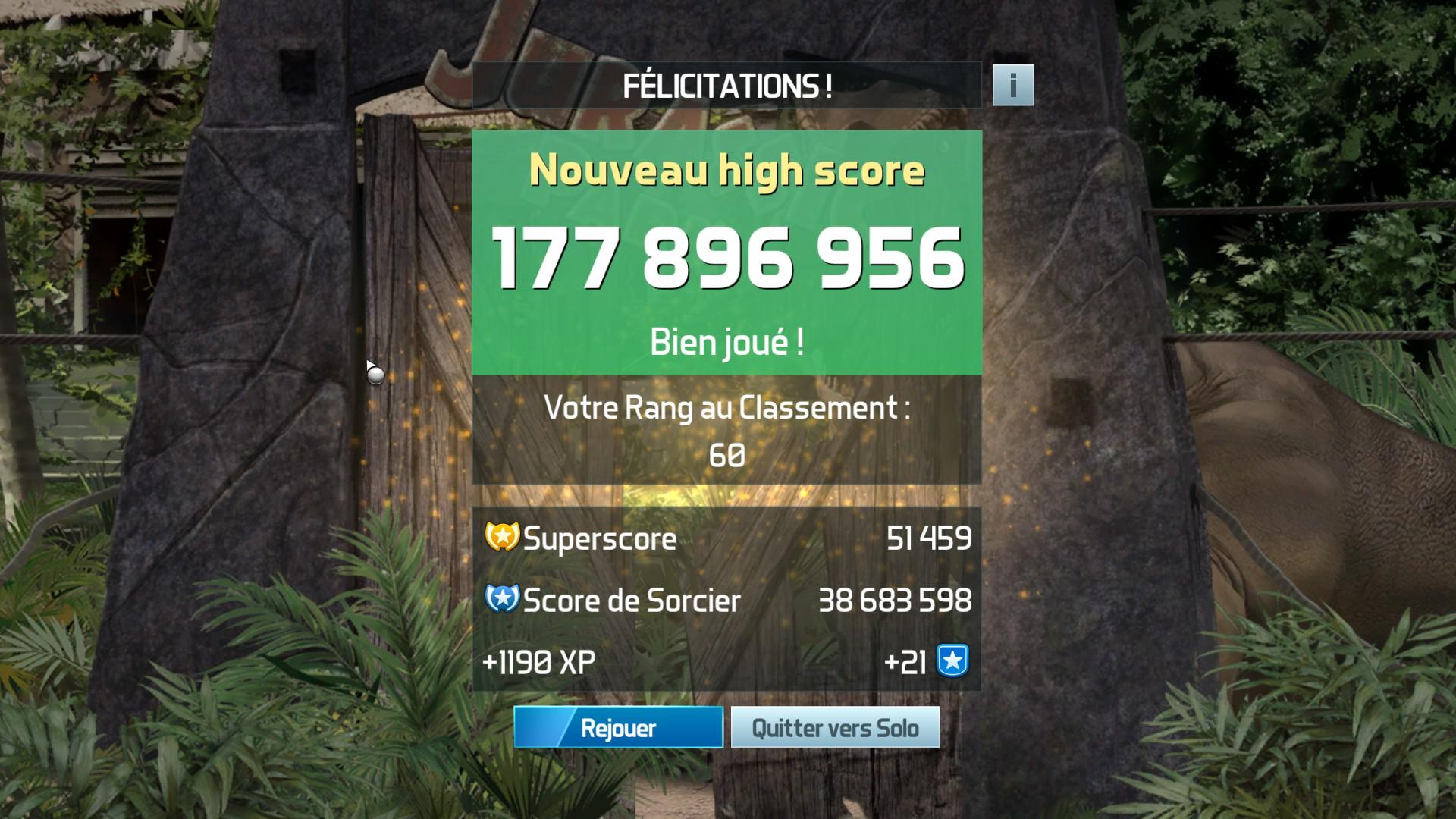 Mantalow: Pinball FX3: Jurassic Park Pinball Mayhem (PC) 177,896,956 points on 2018-02-23 05:10:32