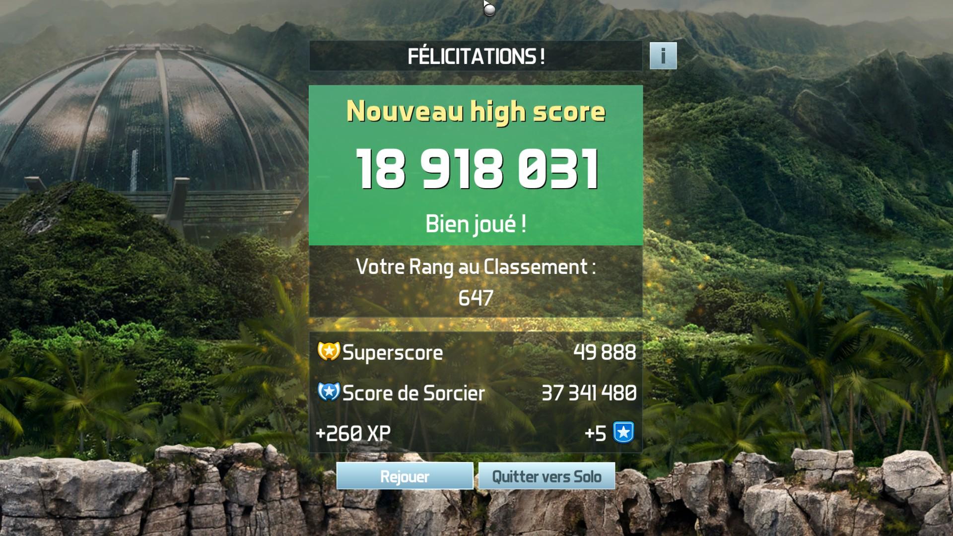 Mantalow: Pinball FX3: Jurassic World Pinball (PC) 18,918,031 points on 2018-05-10 03:27:52