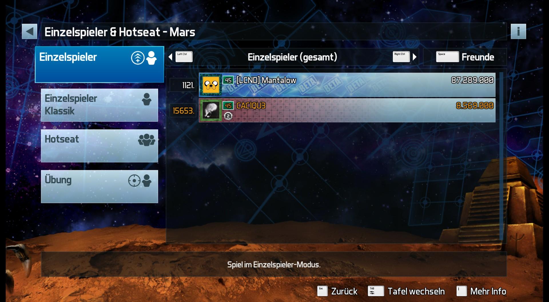 Pinball FX3: Mars 8,569,000 points