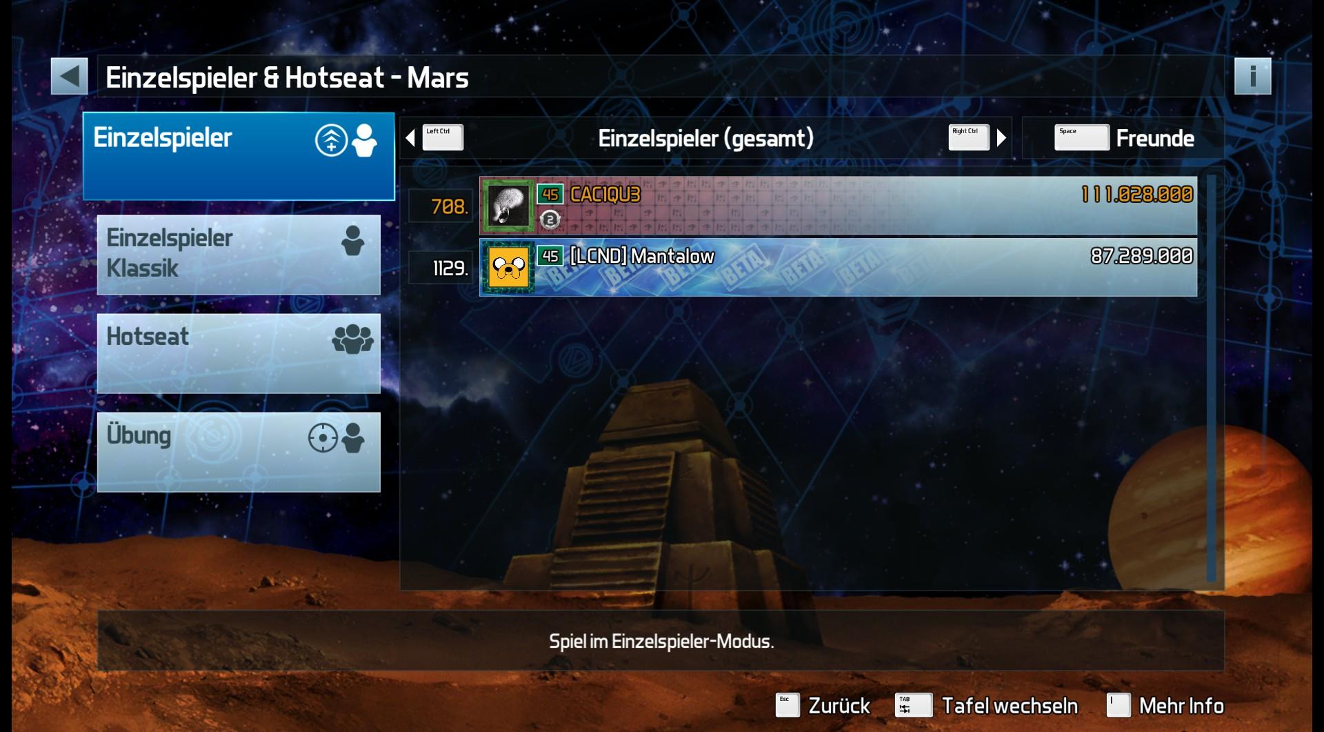 CAC1QU3: Pinball FX3: Mars (PC) 110,028,000 points on 2019-04-11 22:09:38