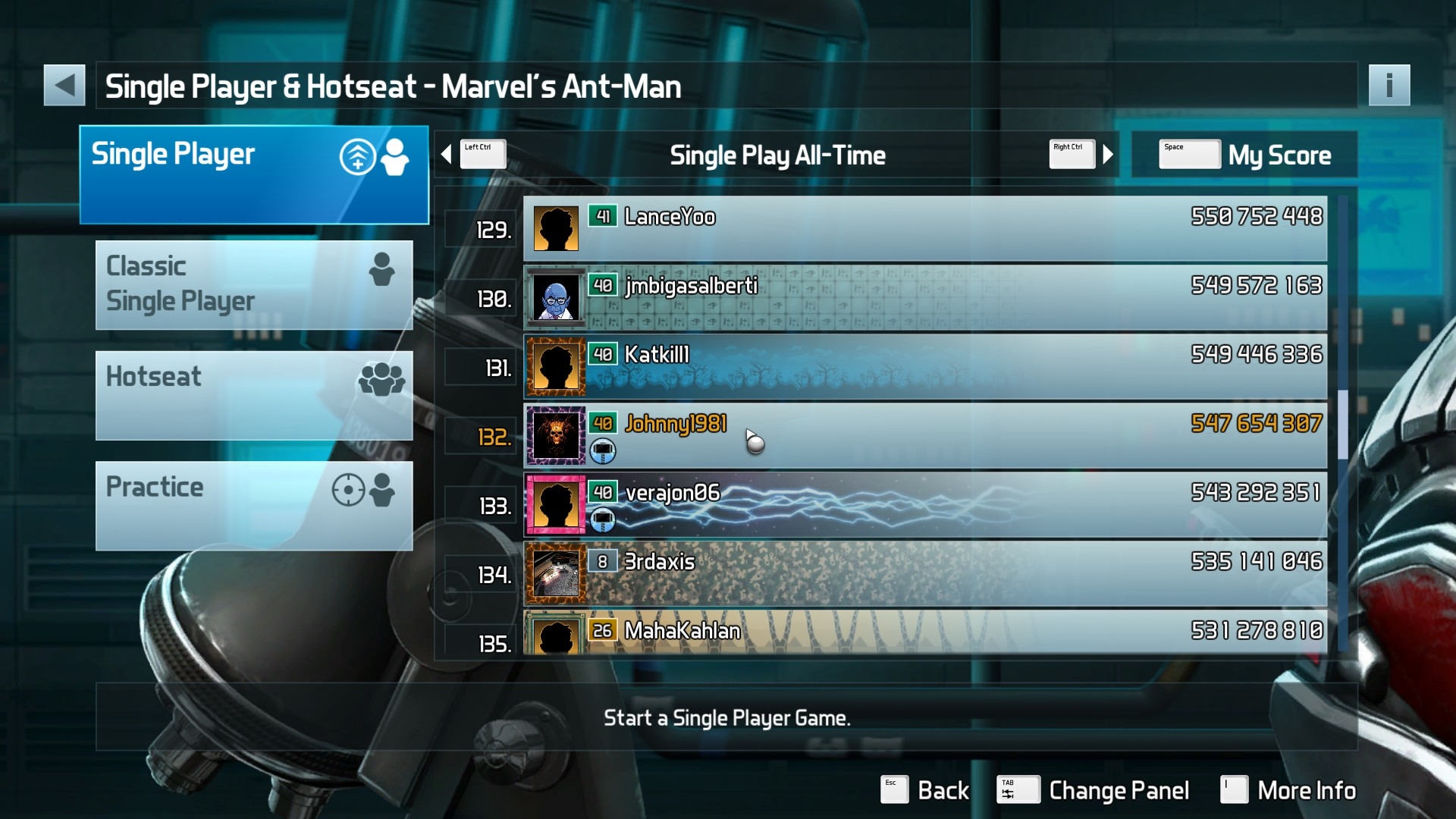 Johnny1981: Pinball FX3: Marvel's Ant-Man (PC) 547,654,307 points on 2018-04-10 14:21:43