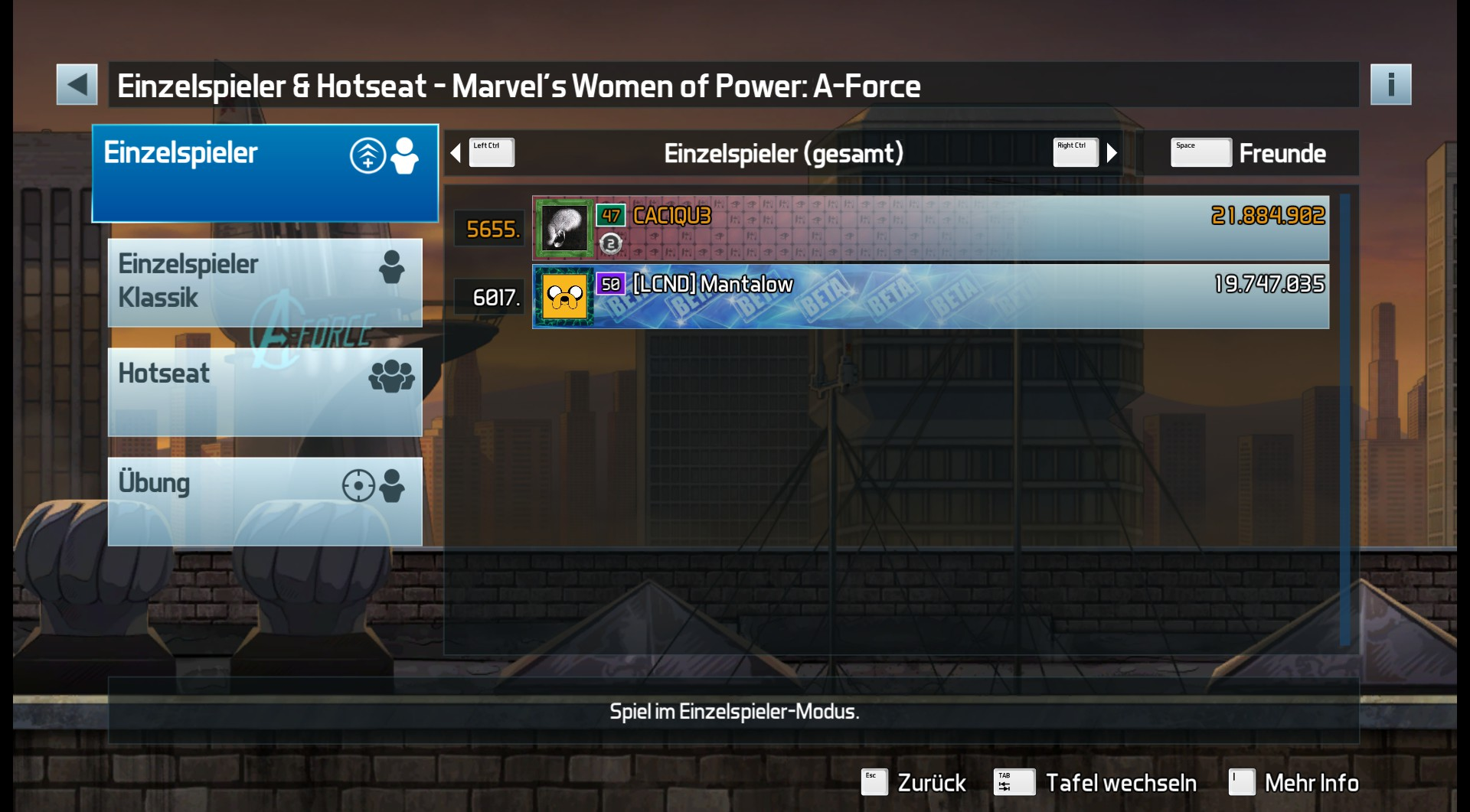Pinball FX3: Marvel's Women of Power: A-Force 21,884,902 points