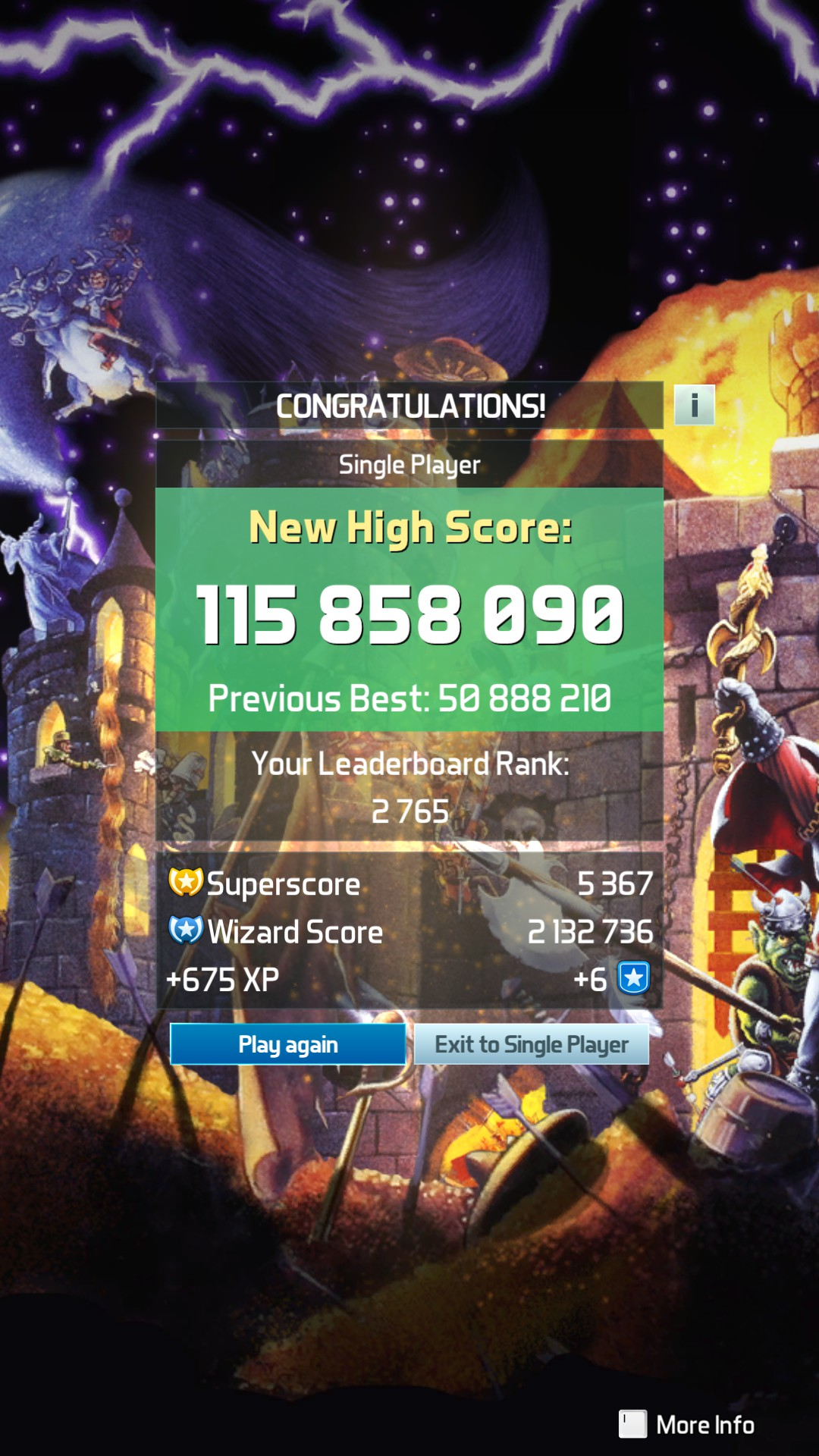 GTibel: Pinball FX3: Medieval Madness [Arcade] (PC) 115,855,090 points on 2019-01-23 02:03:49