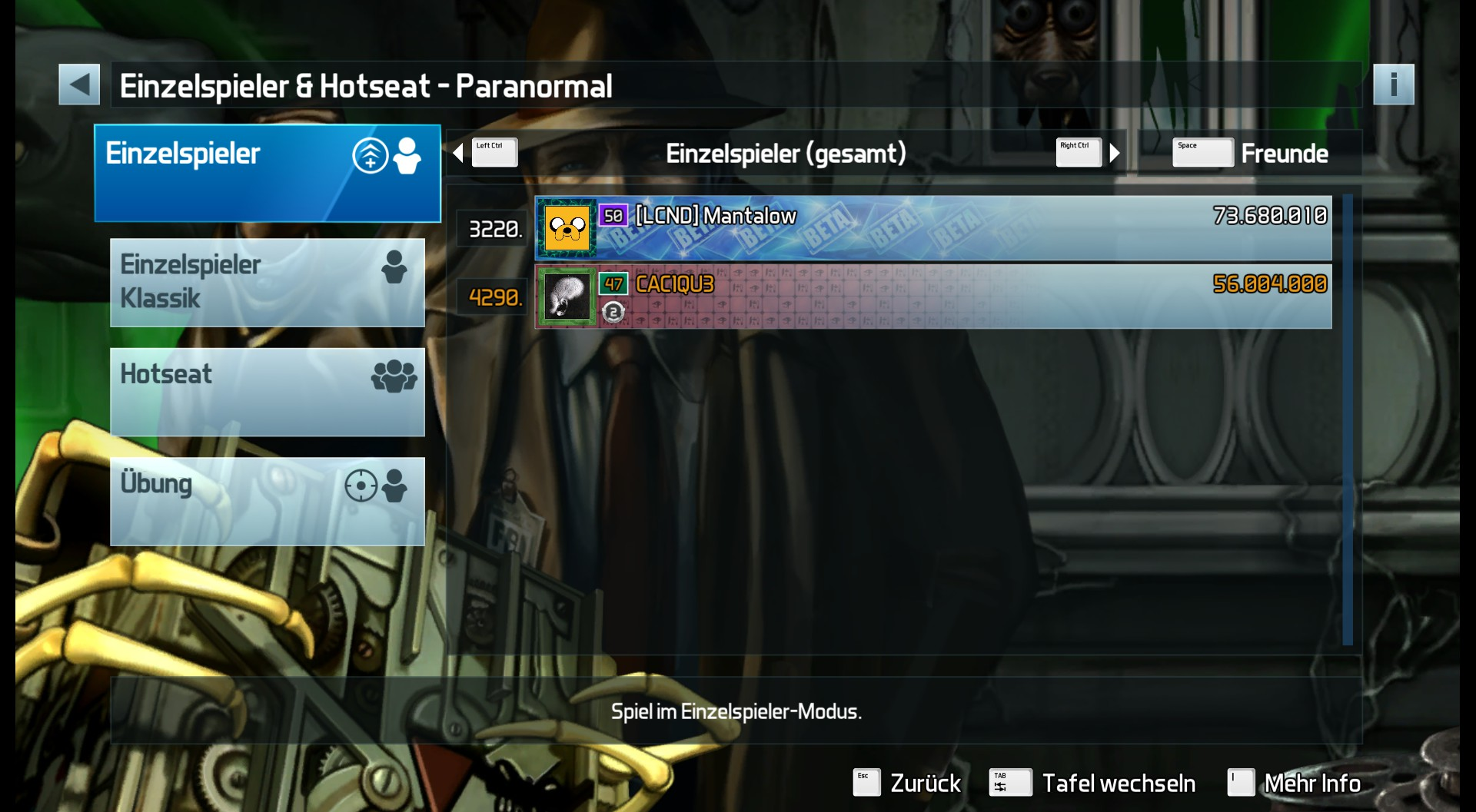 Pinball FX3: Paranormal 56,004,000 points