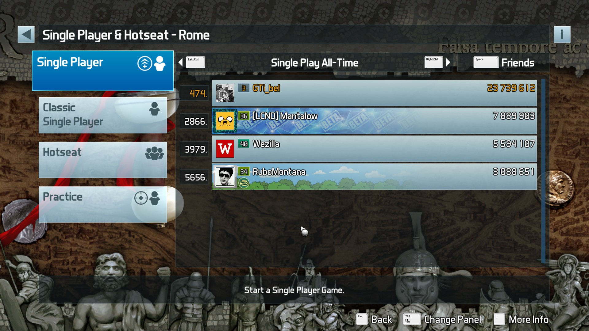 GTibel: Pinball FX3: Rome (PC) 23,739,612 points on 2018-03-03 07:24:48
