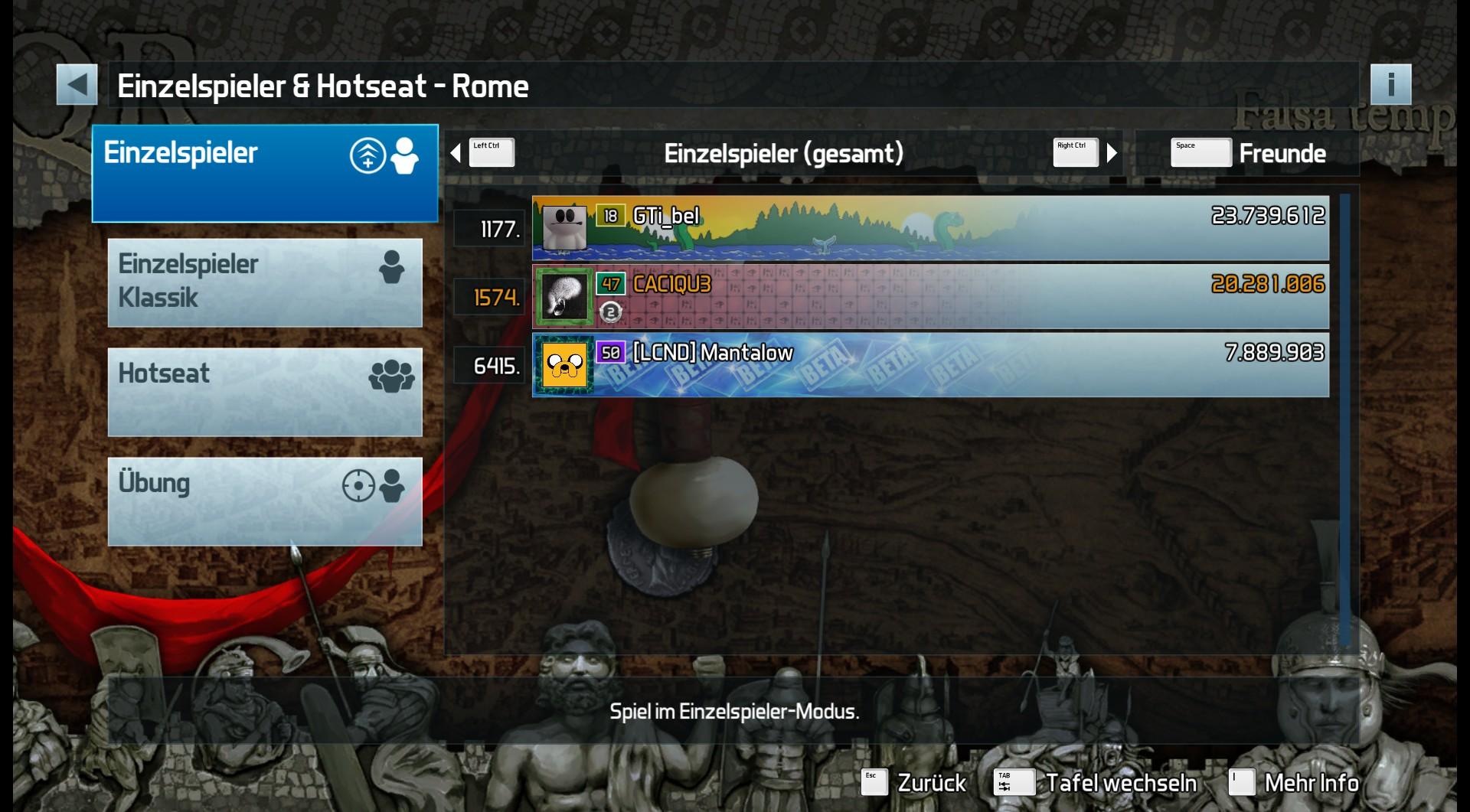 Pinball FX3: Rome 20,281,006 points