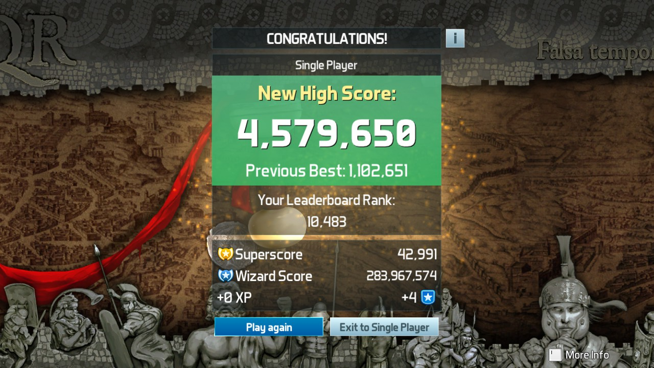 Mark: Pinball FX3: Rome (PC) 4,579,650 points on 2019-05-07 03:37:51