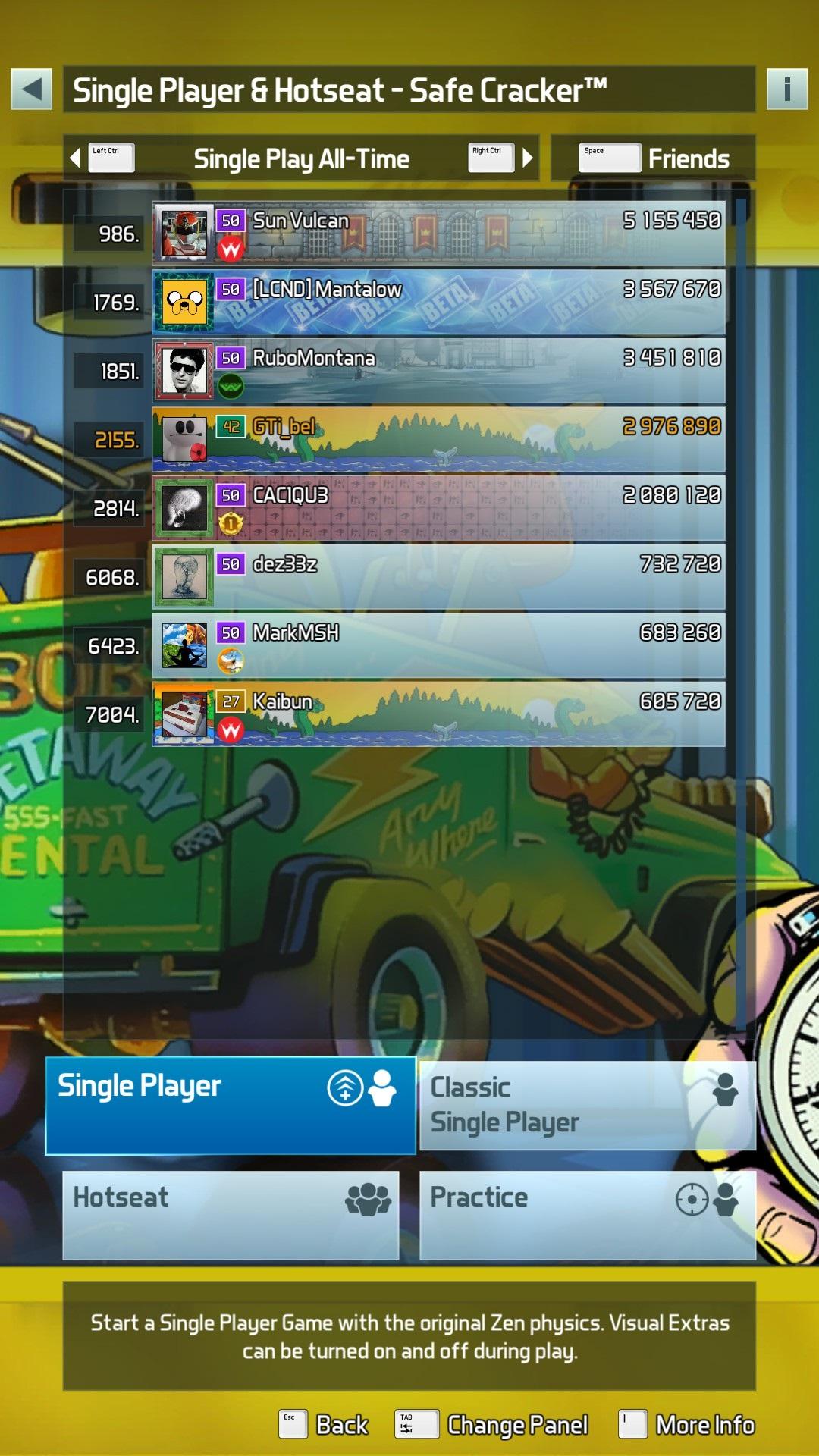 Pinball FX3: Safe Cracker [Standard] 2,976,890 points