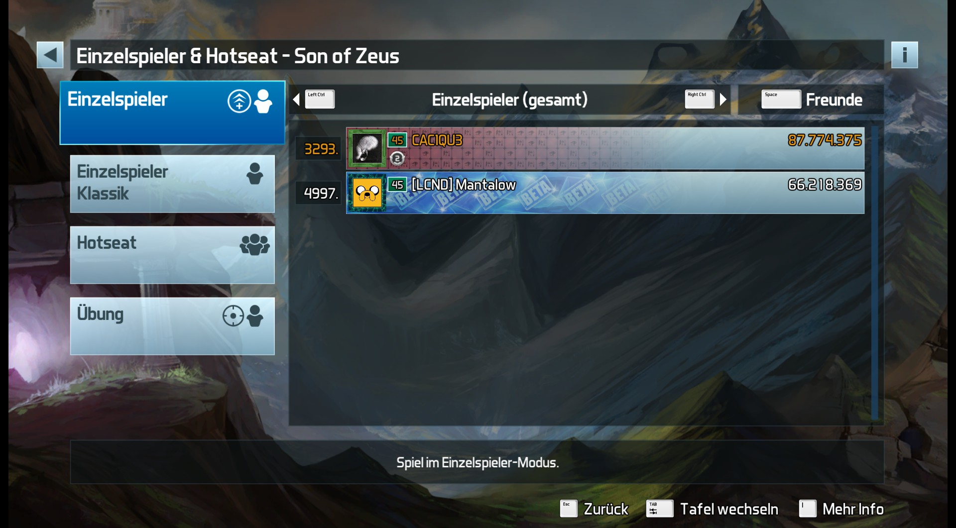 Pinball FX3: Son of Zeus 87,774,375 points