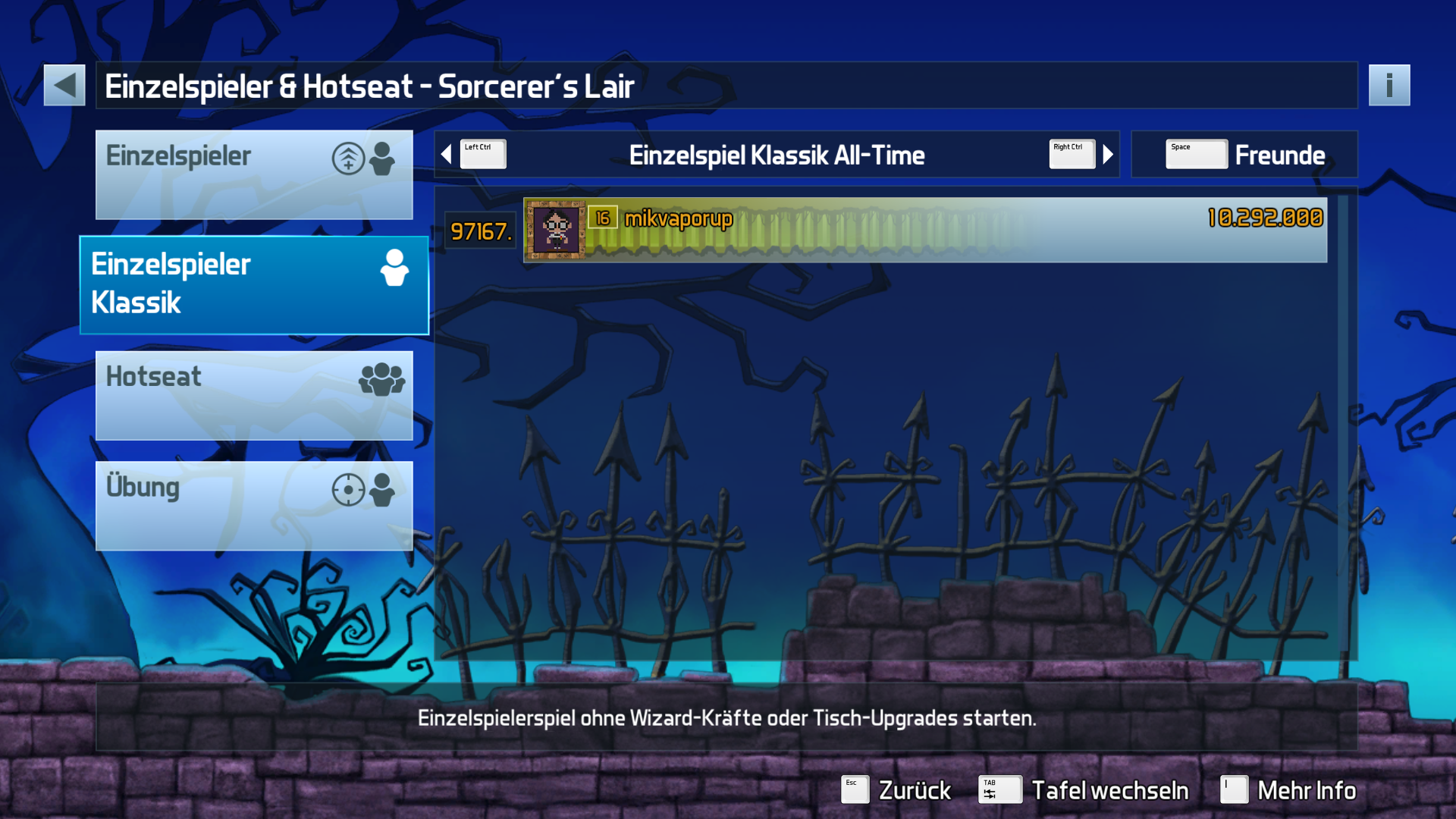 mikvaporup: Pinball FX3: Sorcerer's Lair [Classic] (PC) 10,292,000 points on 2019-11-21 00:19:09