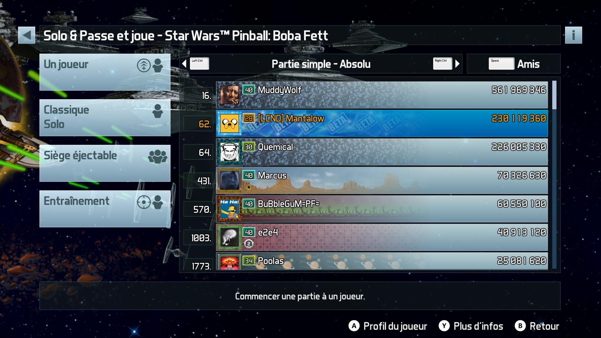 Mantalow: Pinball FX3: Star Wars Pinball: Boba Fett (PC) 230,119,360 points on 2017-12-19 10:49:31