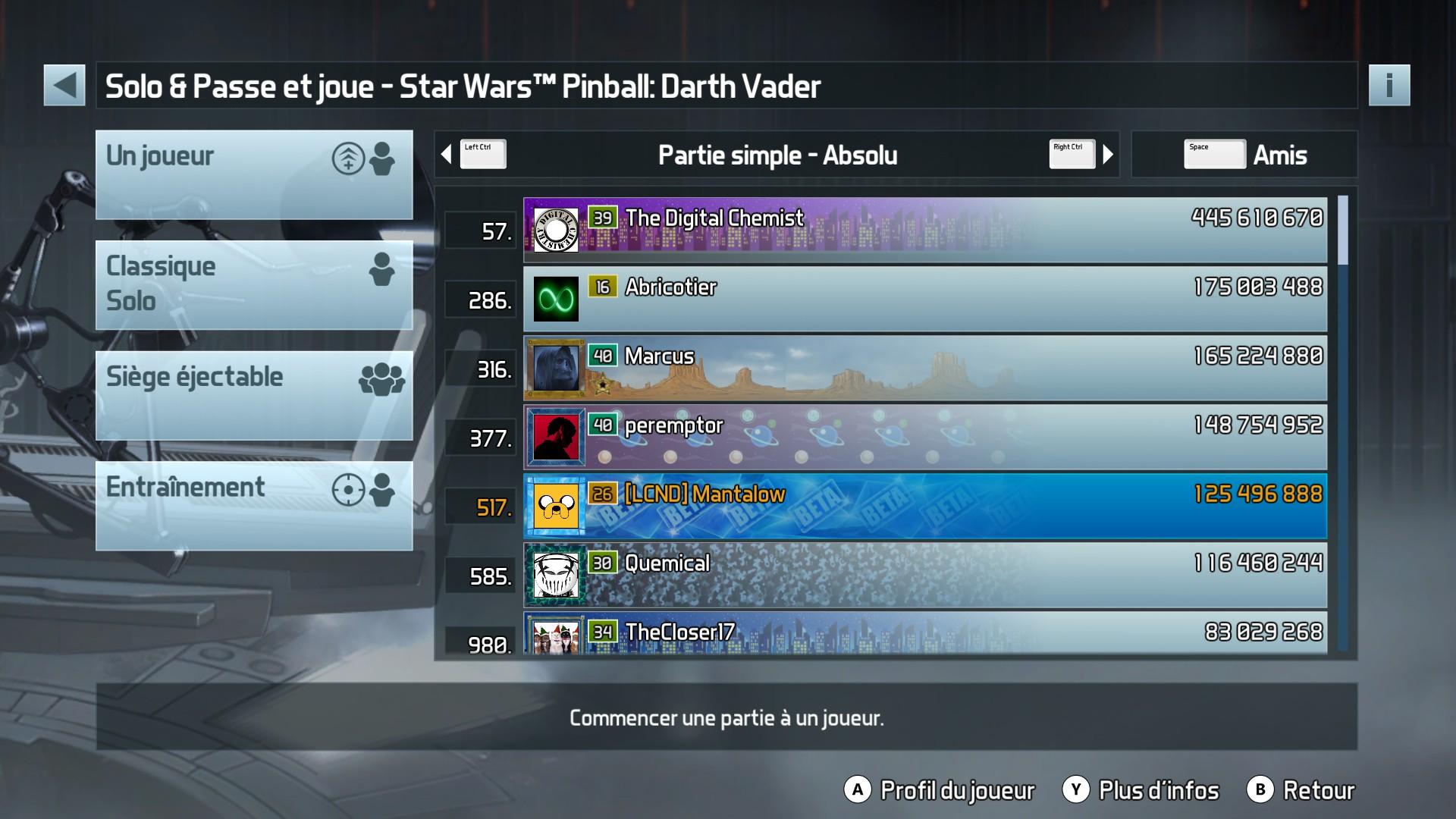 Mantalow: Pinball FX3: Star Wars Pinball: Darth Vader (PC) 125,496,888 points on 2017-12-19 04:42:40