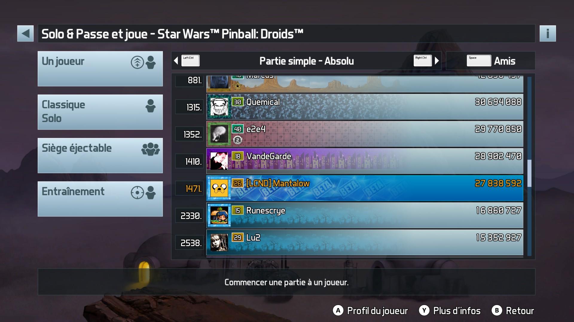 Mantalow: Pinball FX3: Star Wars Pinball: Droids (PC) 27,838,592 points on 2017-12-19 04:40:02