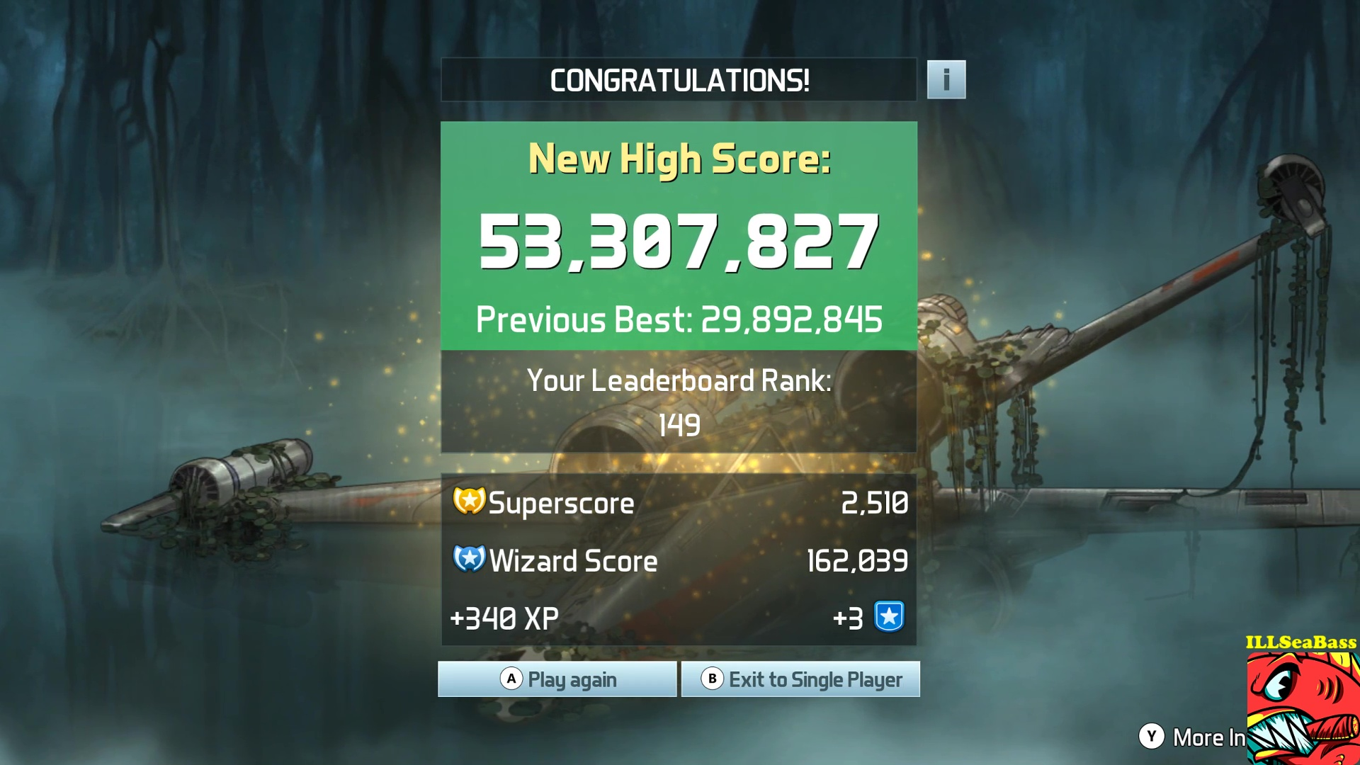 ILLSeaBass: Pinball FX3: Star Wars Pinball: Episode V The Empire Strikes Back (PC) 53,307,827 points on 2017-10-29 11:01:58