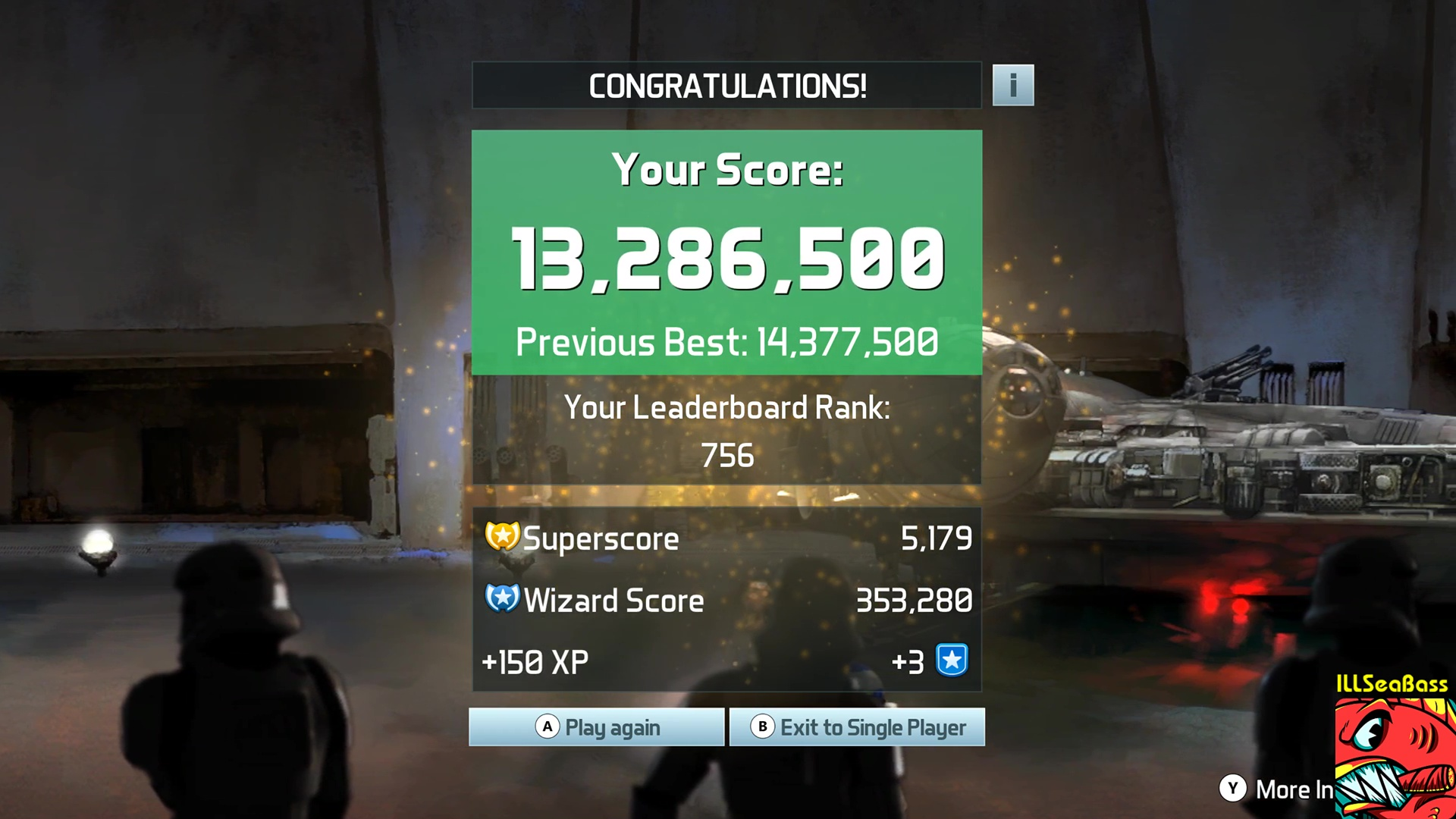 ILLSeaBass: Pinball FX3: Star Wars Pinball: Han Solo (PC) 13,286,500 points on 2017-11-05 20:02:25