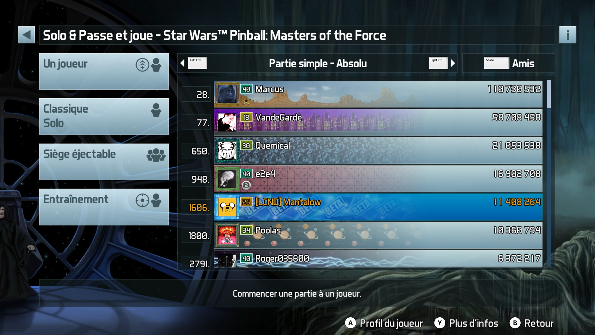 Mantalow: Pinball FX3: Star Wars Pinball: Masters of the Force (PC) 11,408,264 points on 2017-12-19 04:41:12