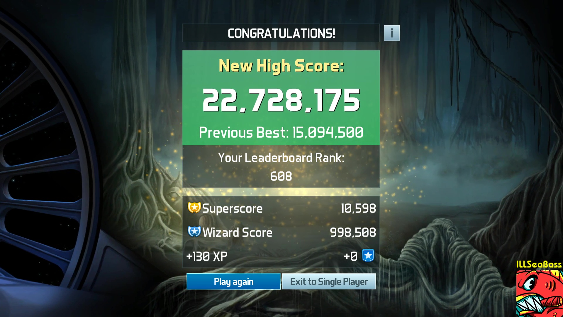 ILLSeaBass: Pinball FX3: Star Wars Pinball: Masters of the Force (PC) 22,728,175 points on 2017-12-29 23:21:20