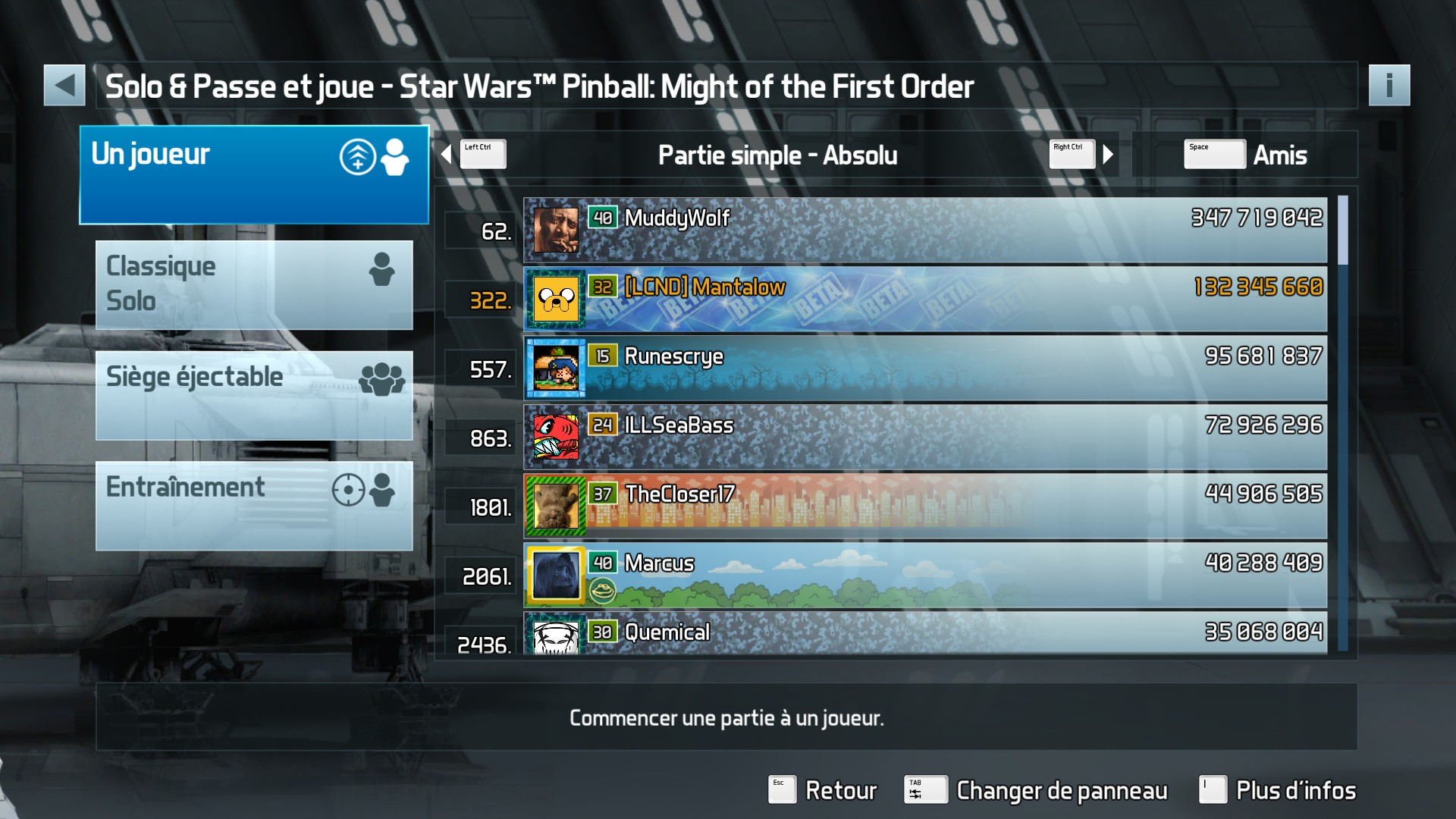 Mantalow: Pinball FX3: Star Wars Pinball: Might of the First Order (PC) 132,345,660 points on 2018-01-14 08:38:58