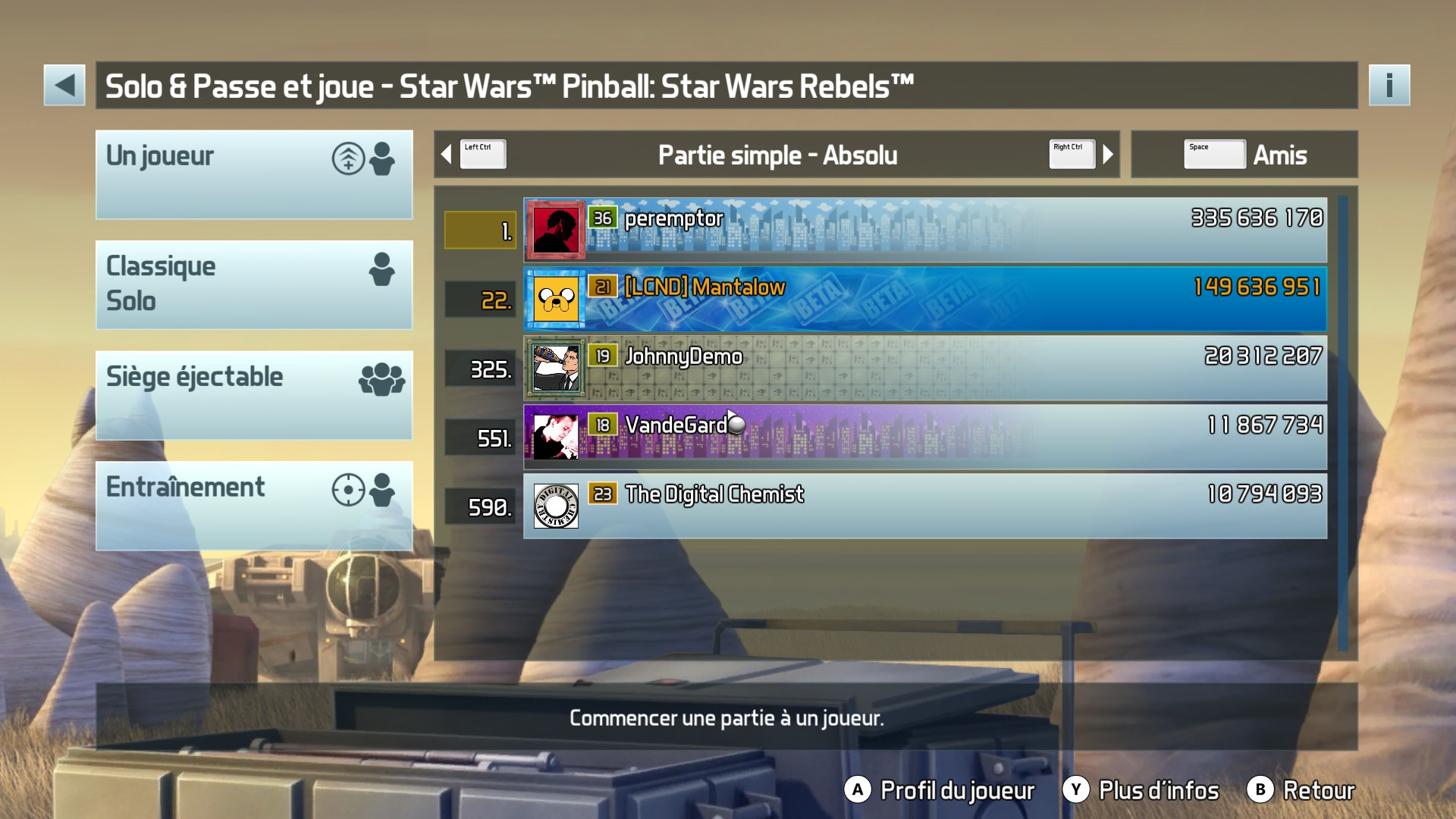 Pinball FX3: Star Wars Pinball: Star Wars Rebels 149,636,951 points