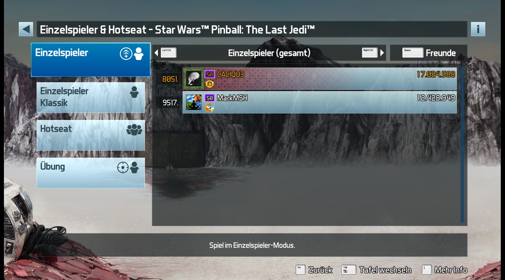 Pinball FX3: Star Wars Pinball: The Last Jedi 17,024,568 points