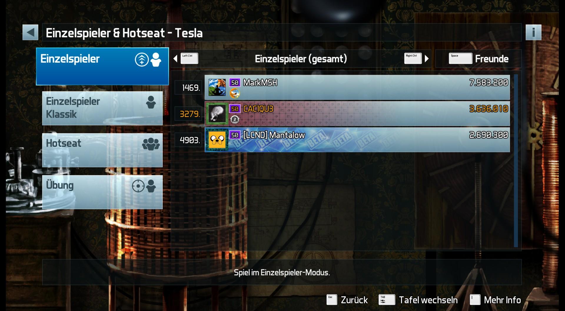 CAC1QU3: Pinball FX3: Tesla (PC) 3,636,010 points on 2019-04-22 17:26:22