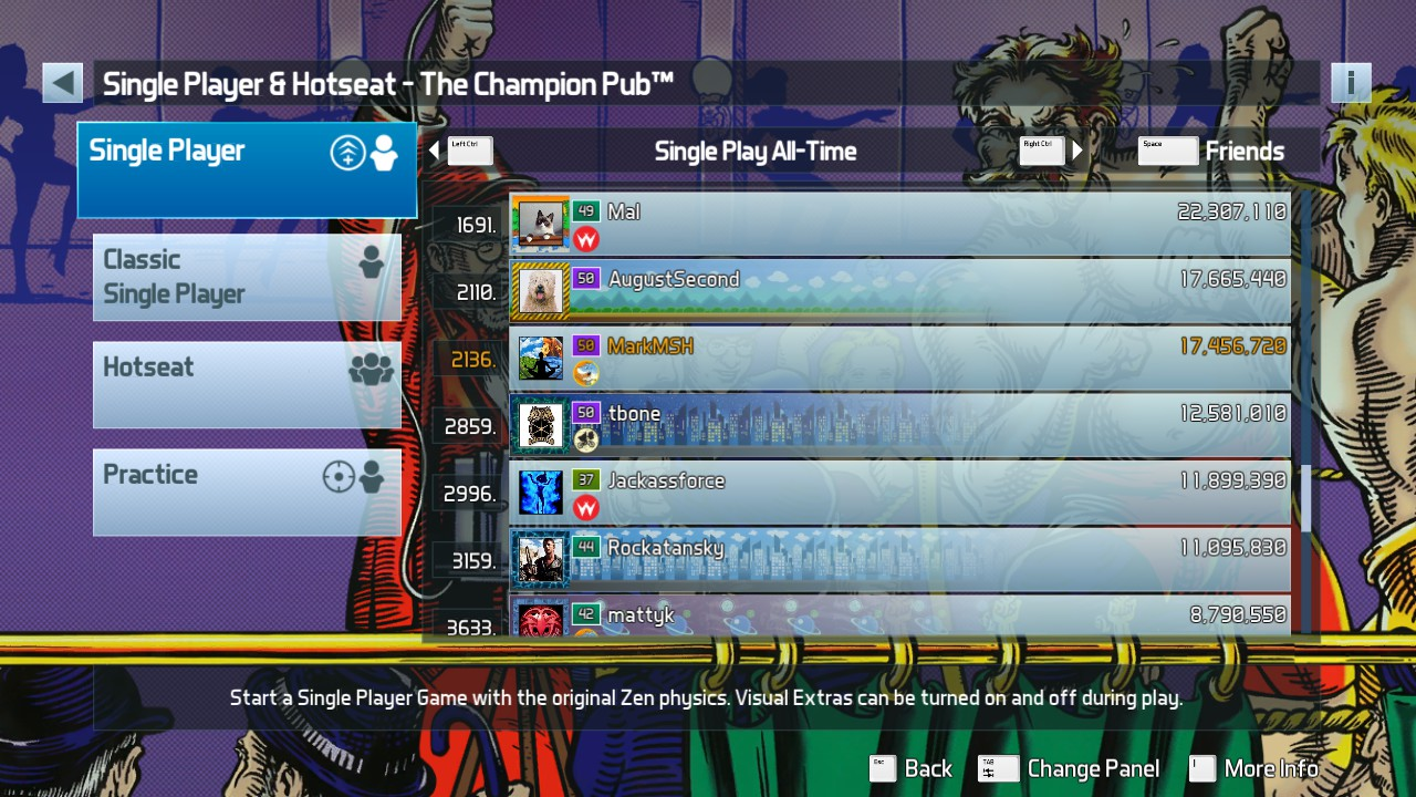Mark: Pinball FX3: The Champion Pub [Standard] (PC) 17,456,720 points on 2019-05-18 03:51:19