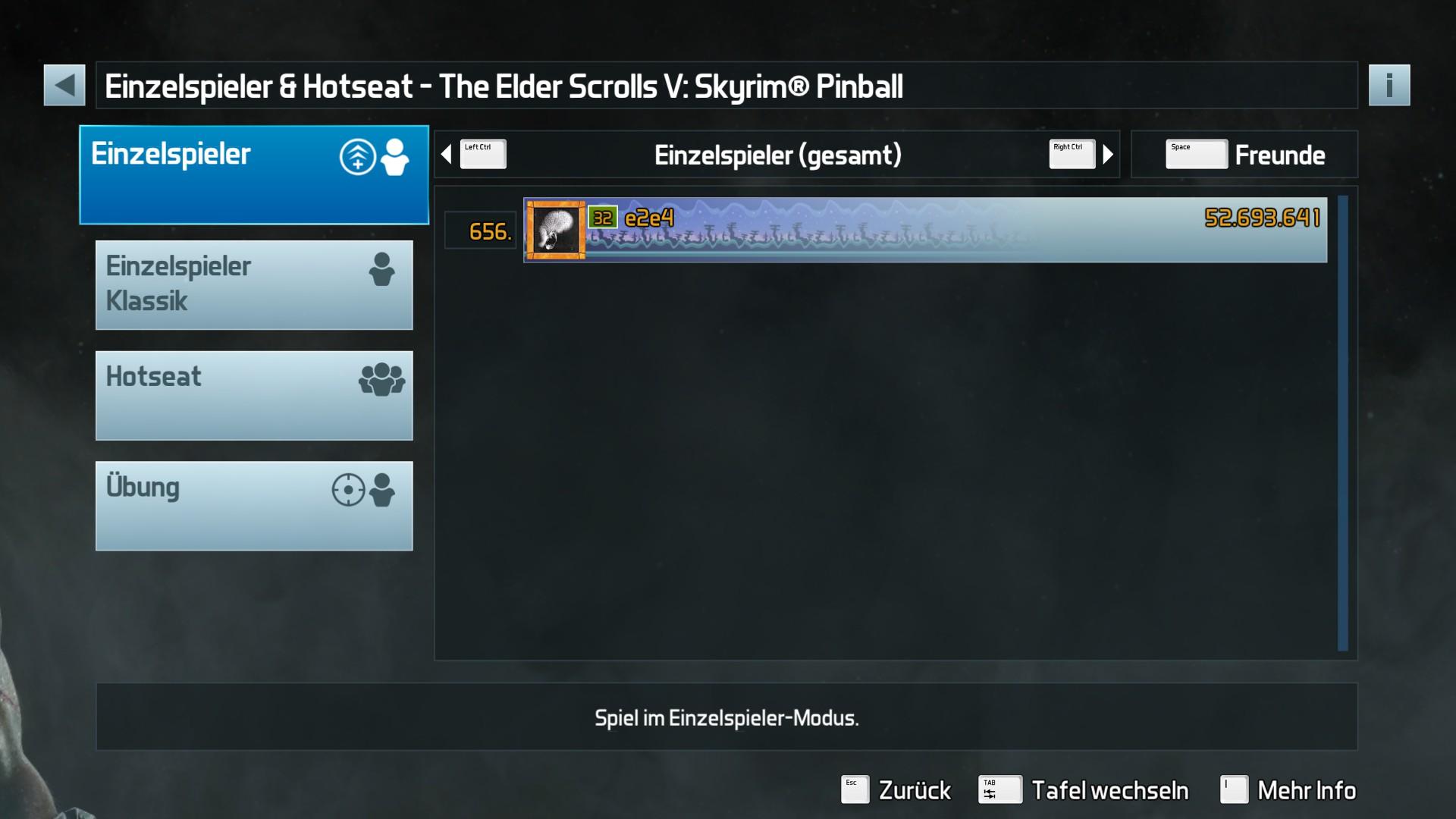 e2e4: Pinball FX3: The Elder Scrolls V: Skyrim Pinball (PC) 52,693,641 points on 2017-10-16 12:57:24