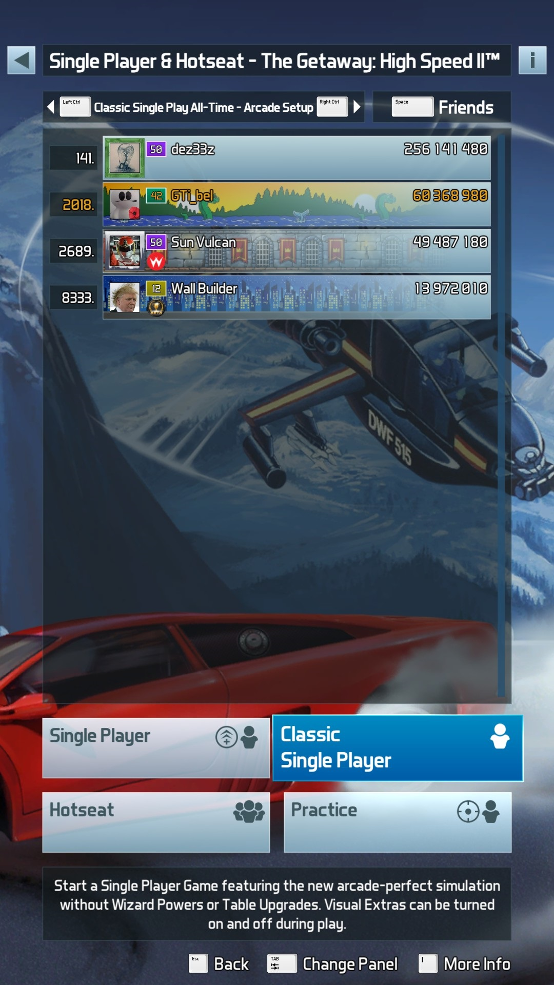 GTibel: Pinball FX3: The Getaway: High Speed II [Arcade] (PC) 60,368,980 points on 2020-01-15 10:57:41