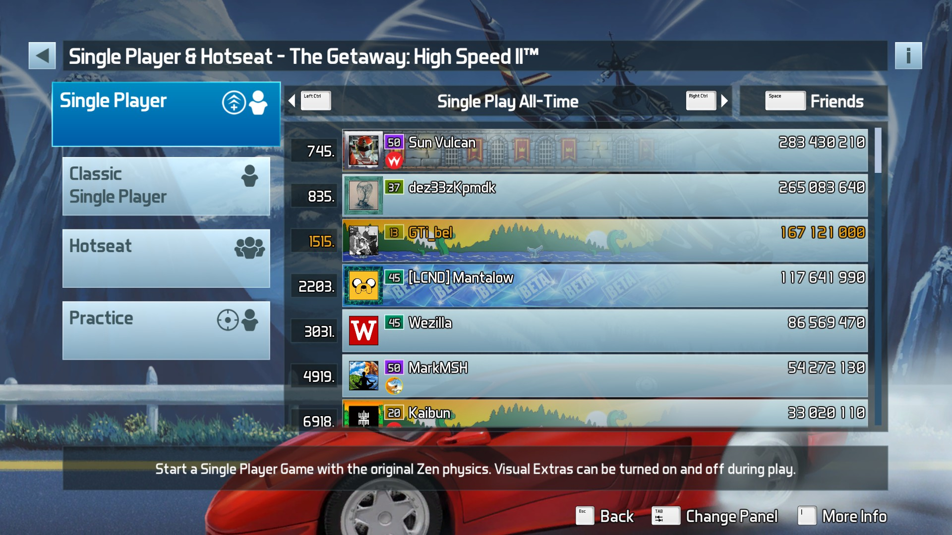 GTibel: Pinball FX3: The Getaway: High Speed II [Standard] (PC) 167,121,000 points on 2020-01-15 09:23:52