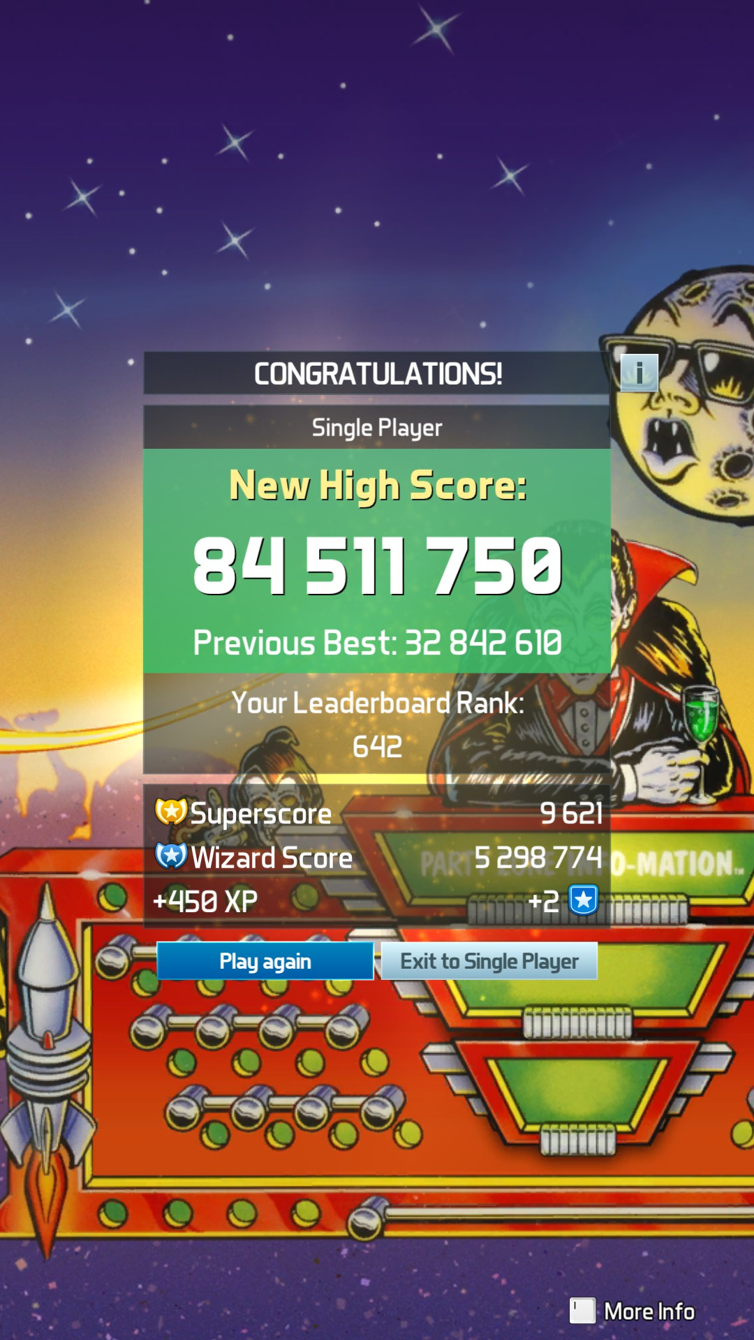 Pinball FX3: The Party Zone [Standard] 84,511,750 points